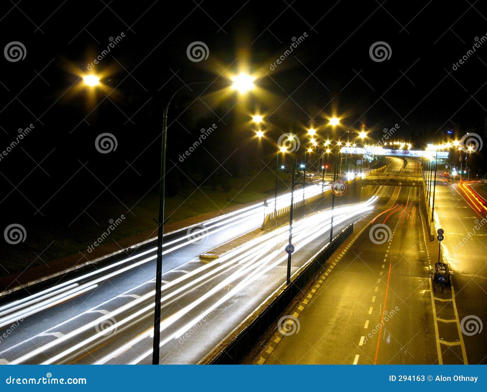 De nacht van het verkeer