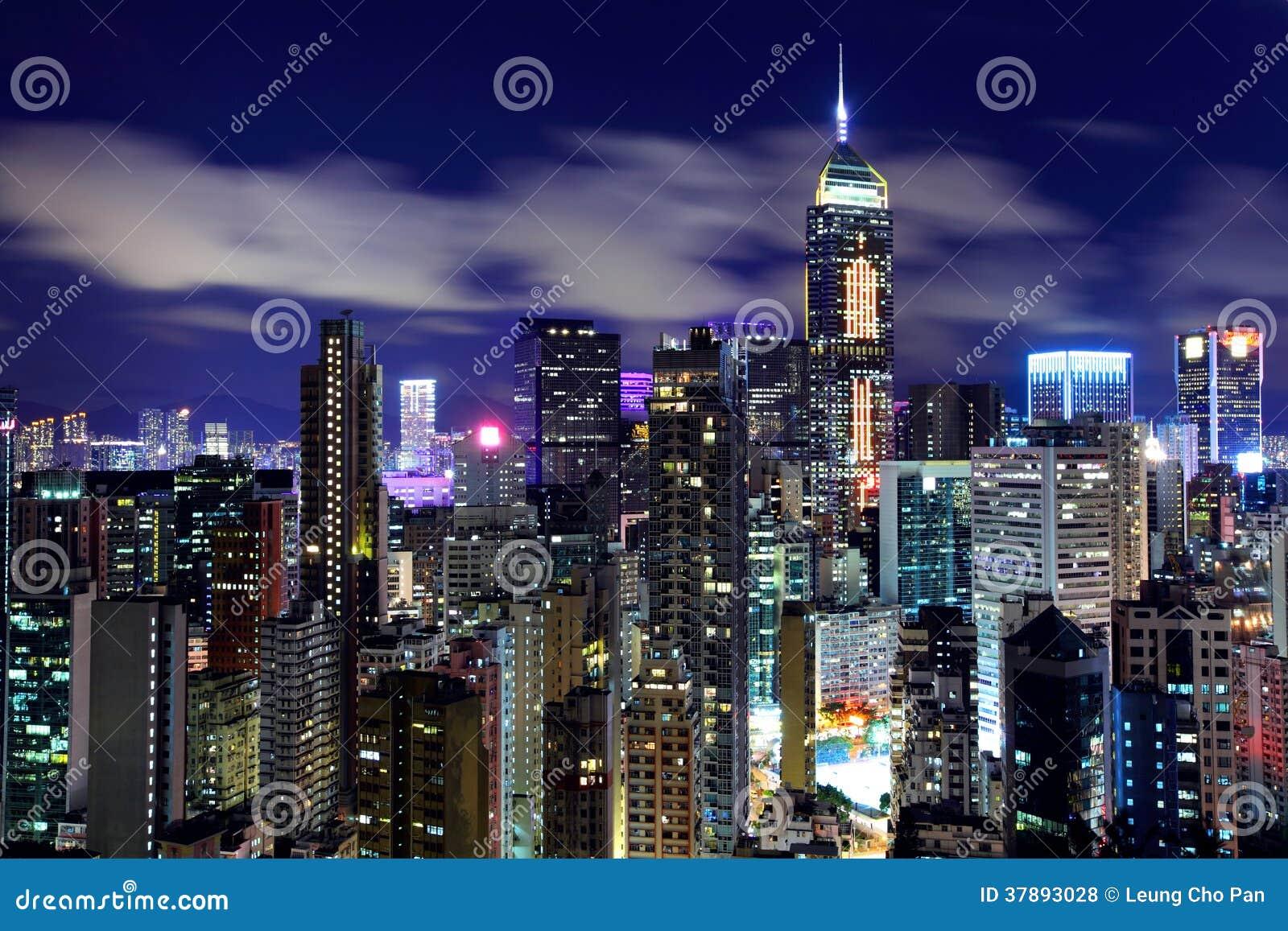 De nacht van Hongkong