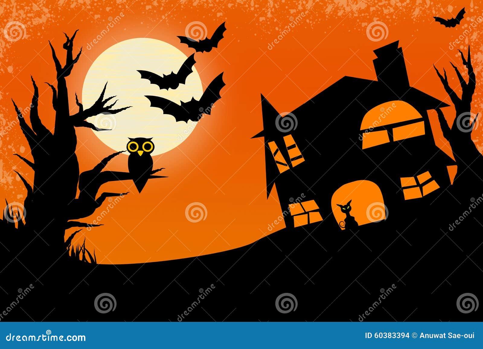 De nachtachtergrond van Halloween