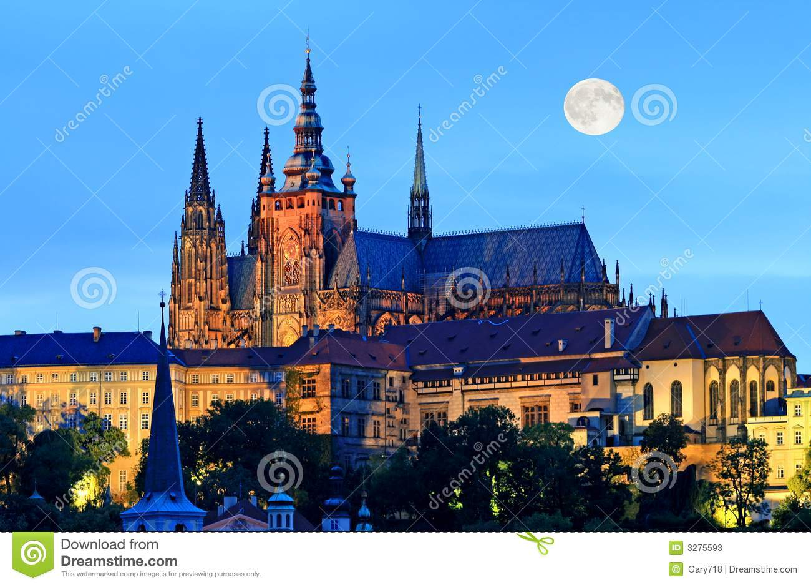 De nachtmening van Praag