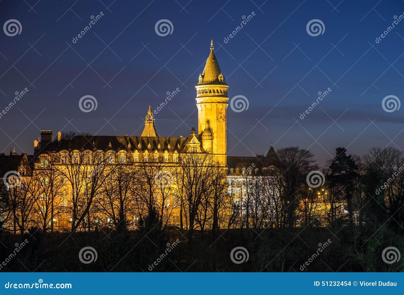 De nachtscène van Luxemburg