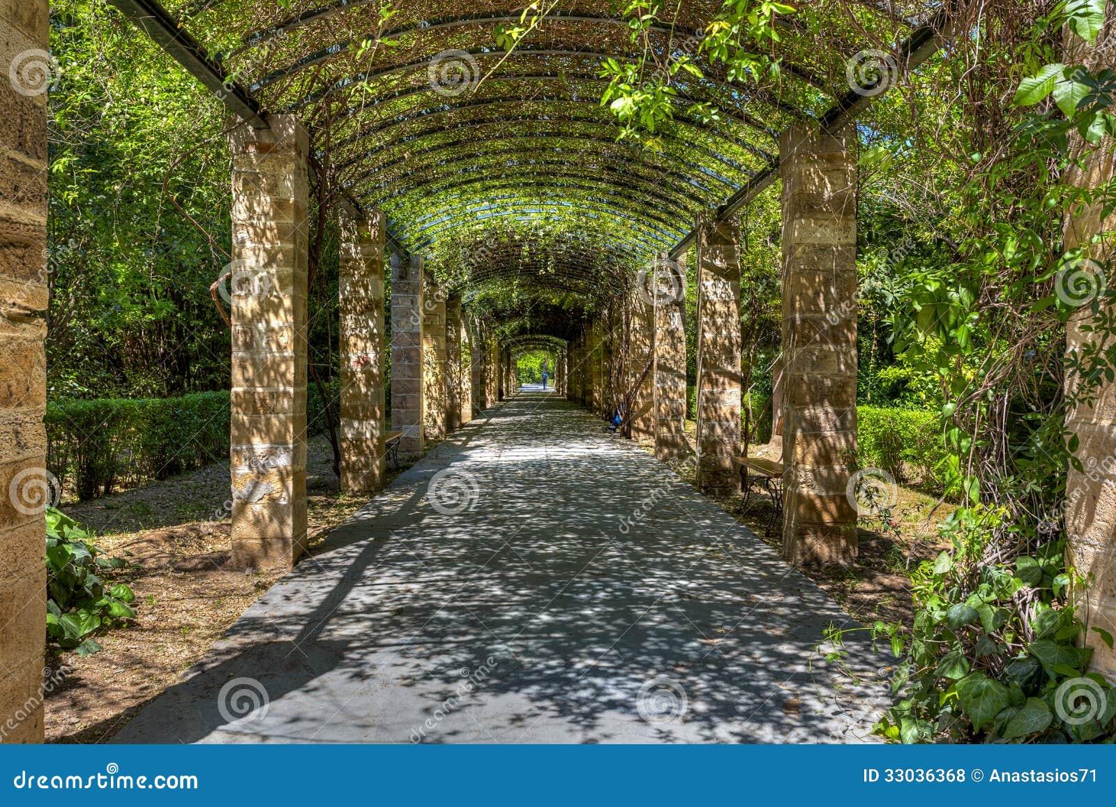 De nationale tuin vroeger de koninklijke tuin van athene royalty vrije stock foto 39 s - Kleur schilderij gang ingang ...