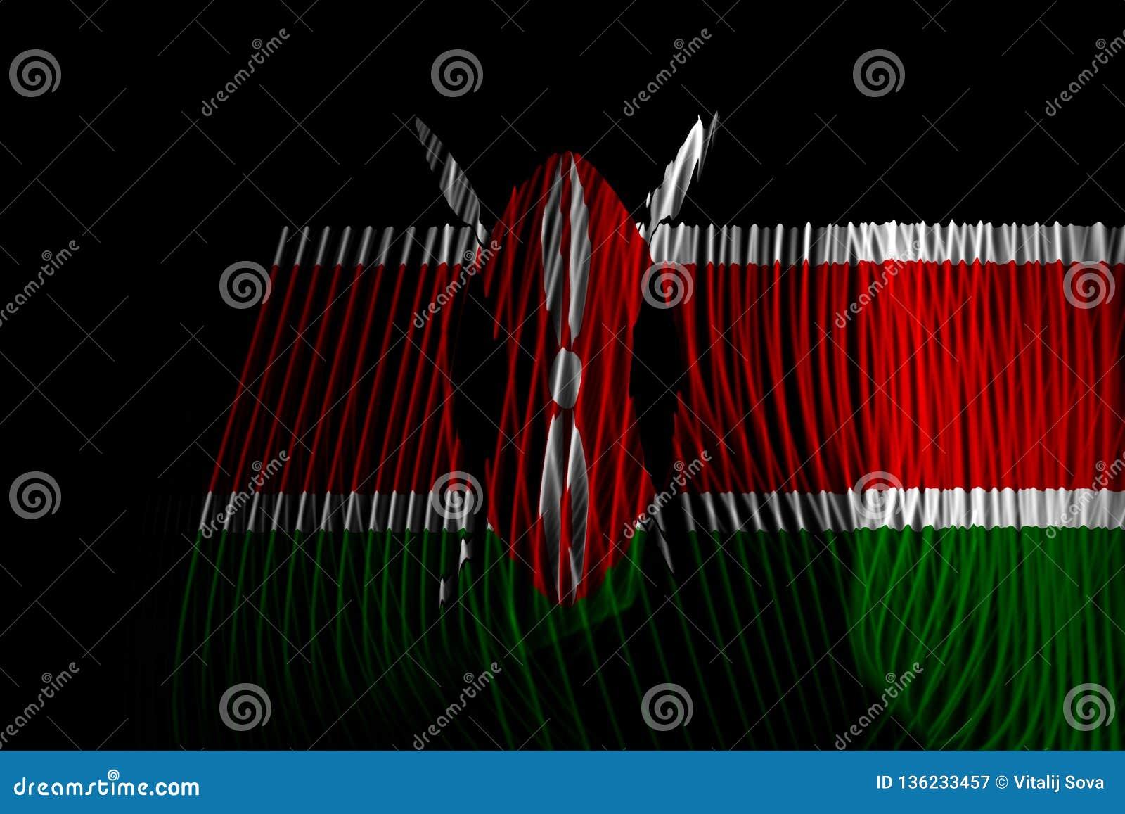 De Nationale Vlag van Kenia