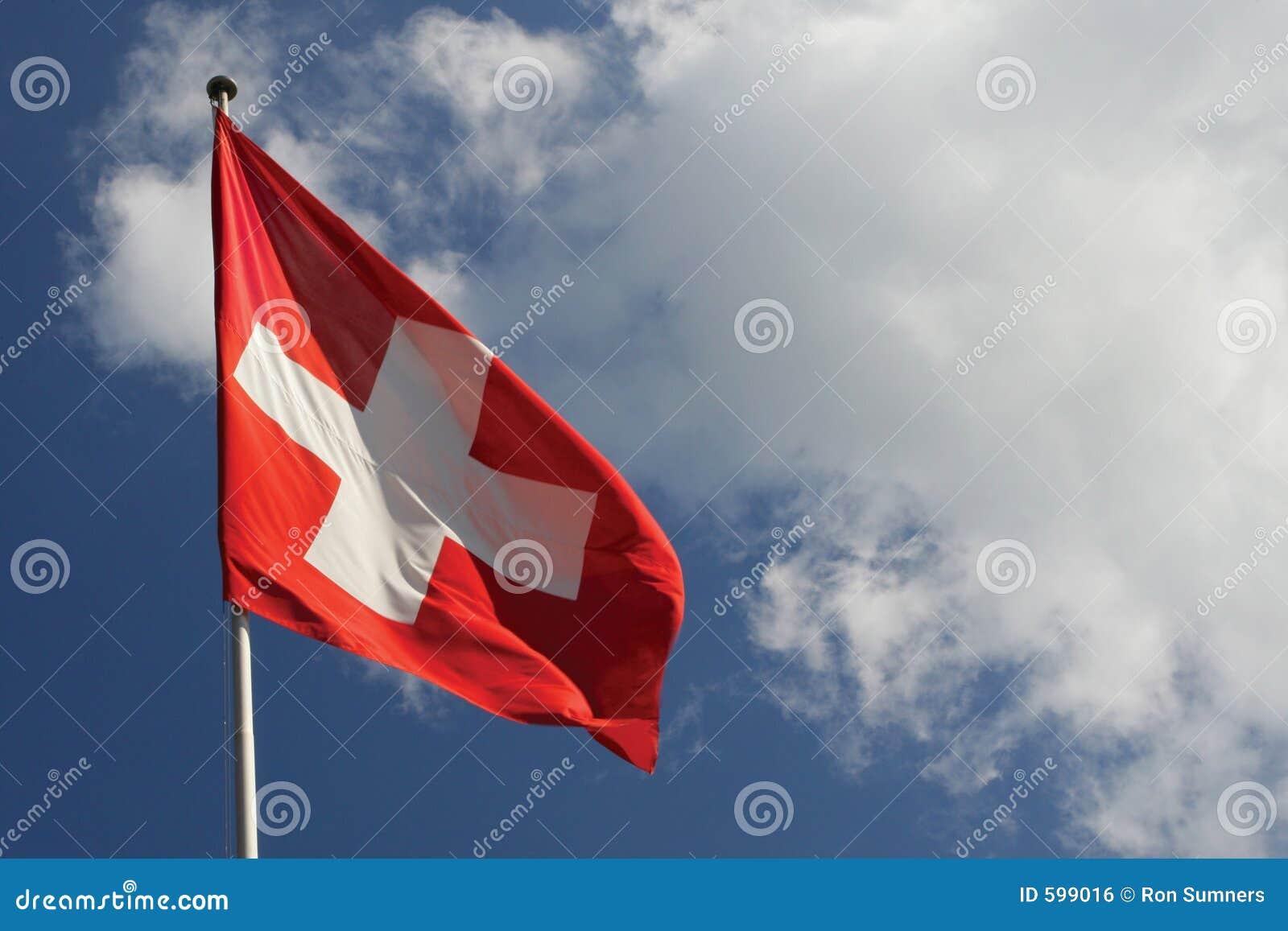 De Nationale vlag van Zwitserland