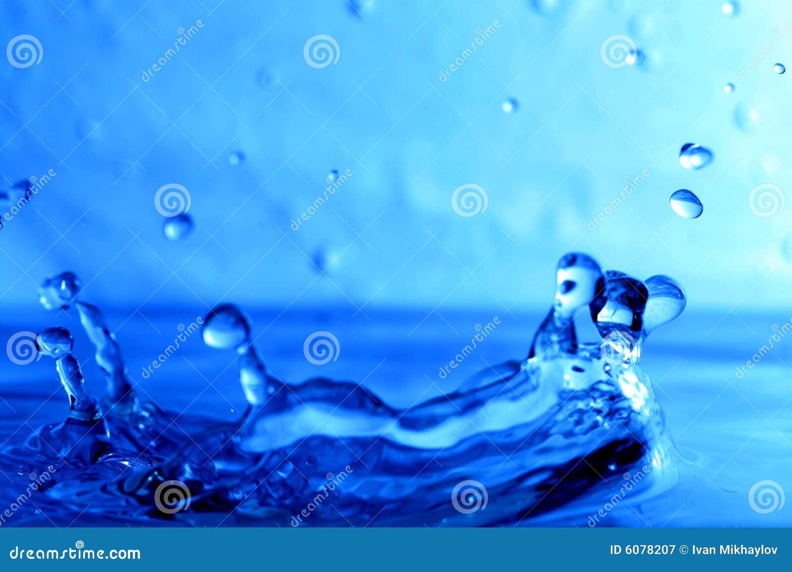 De natte plons van het water
