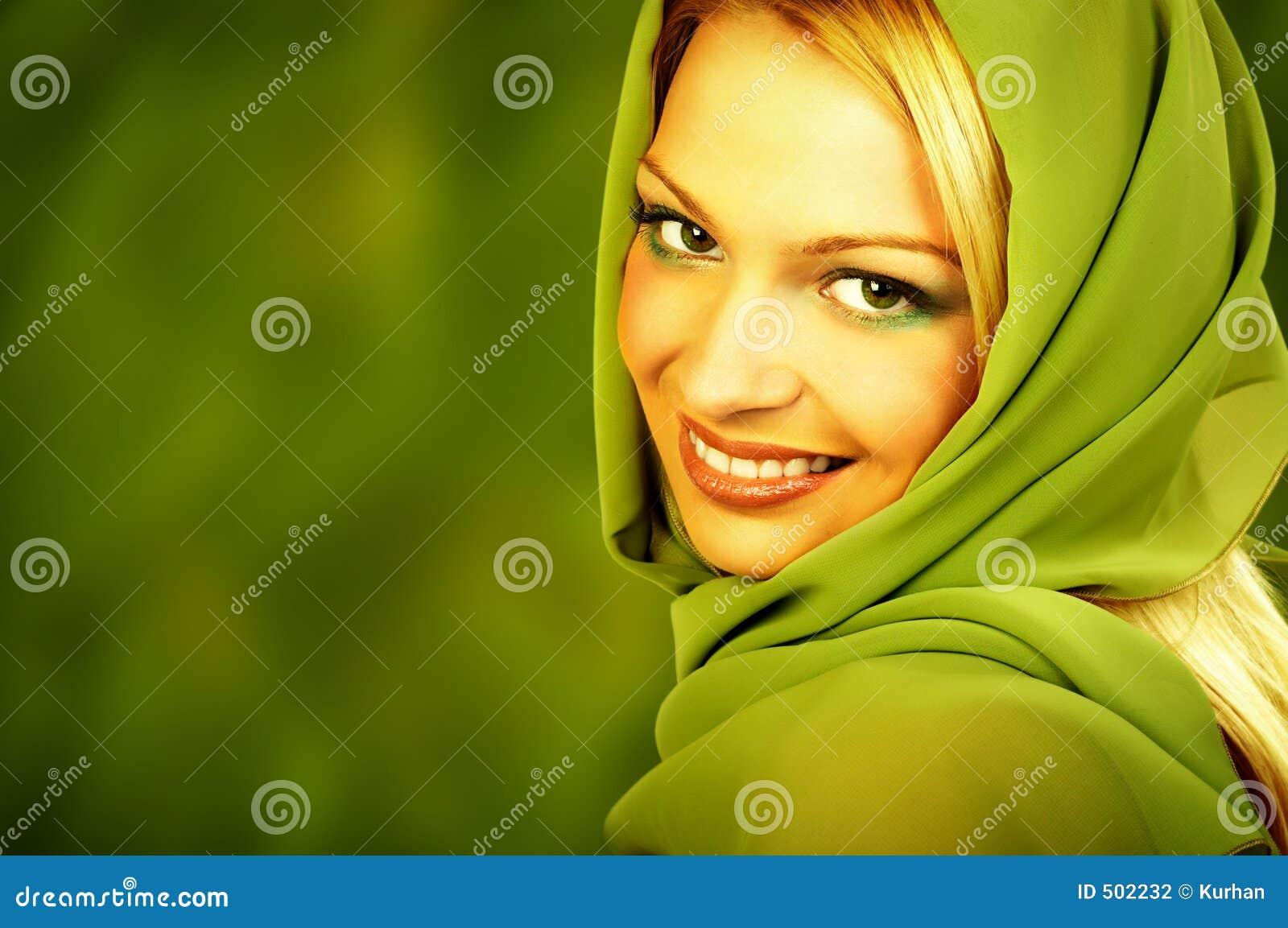 De natuurlijke groene vrouw van het kuuroord.