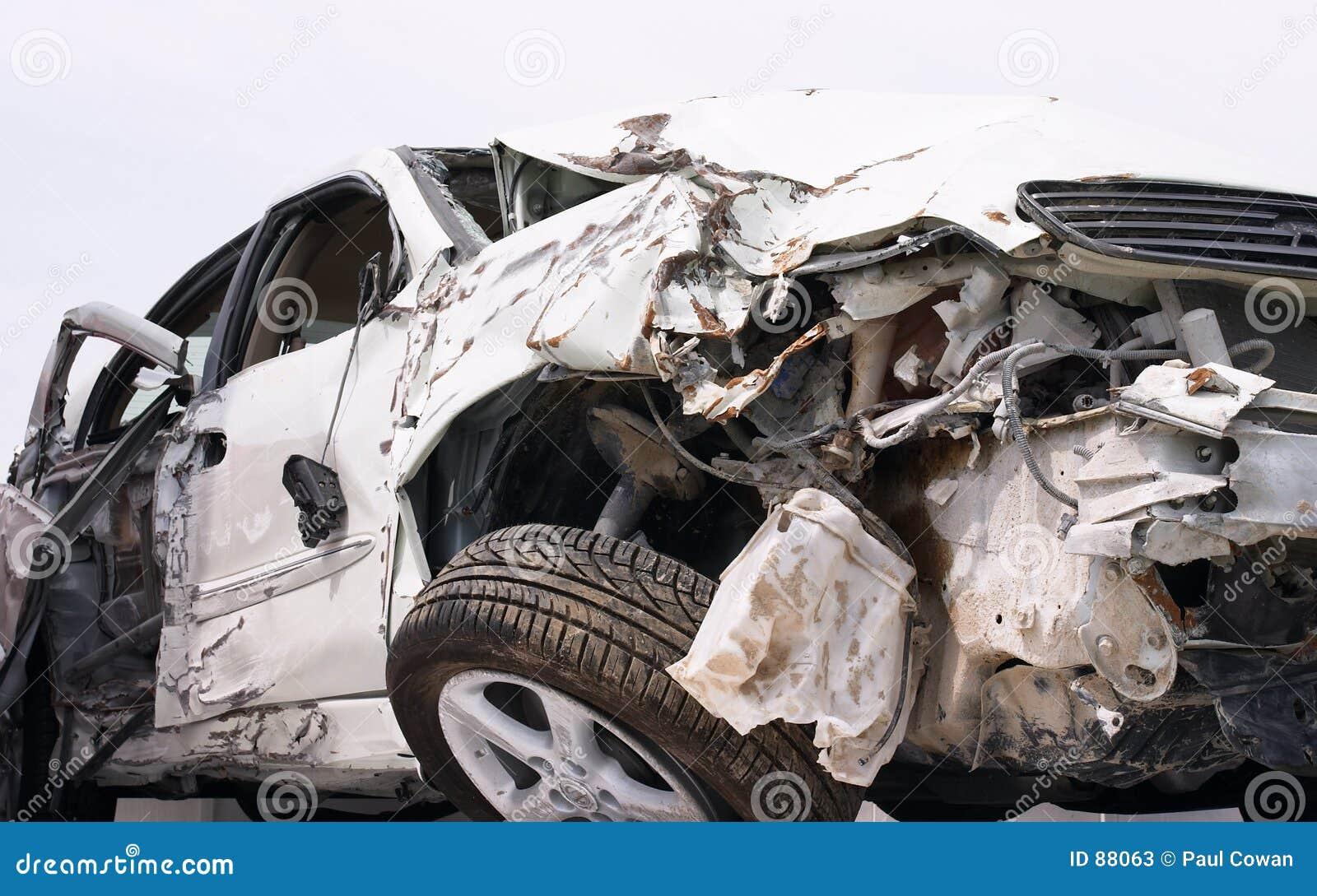 De neerstorting van de auto