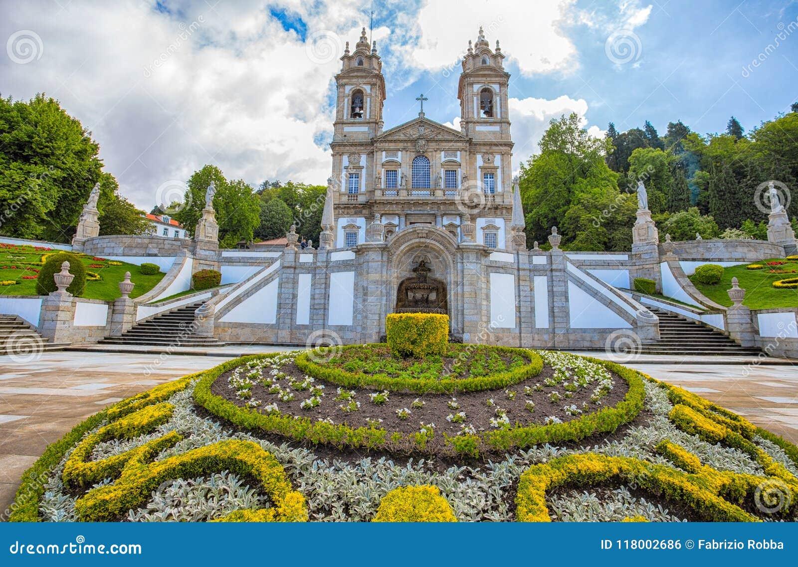 De neoklassieke Basiliek van Bom Jesus do Monte in Braga, Portugal