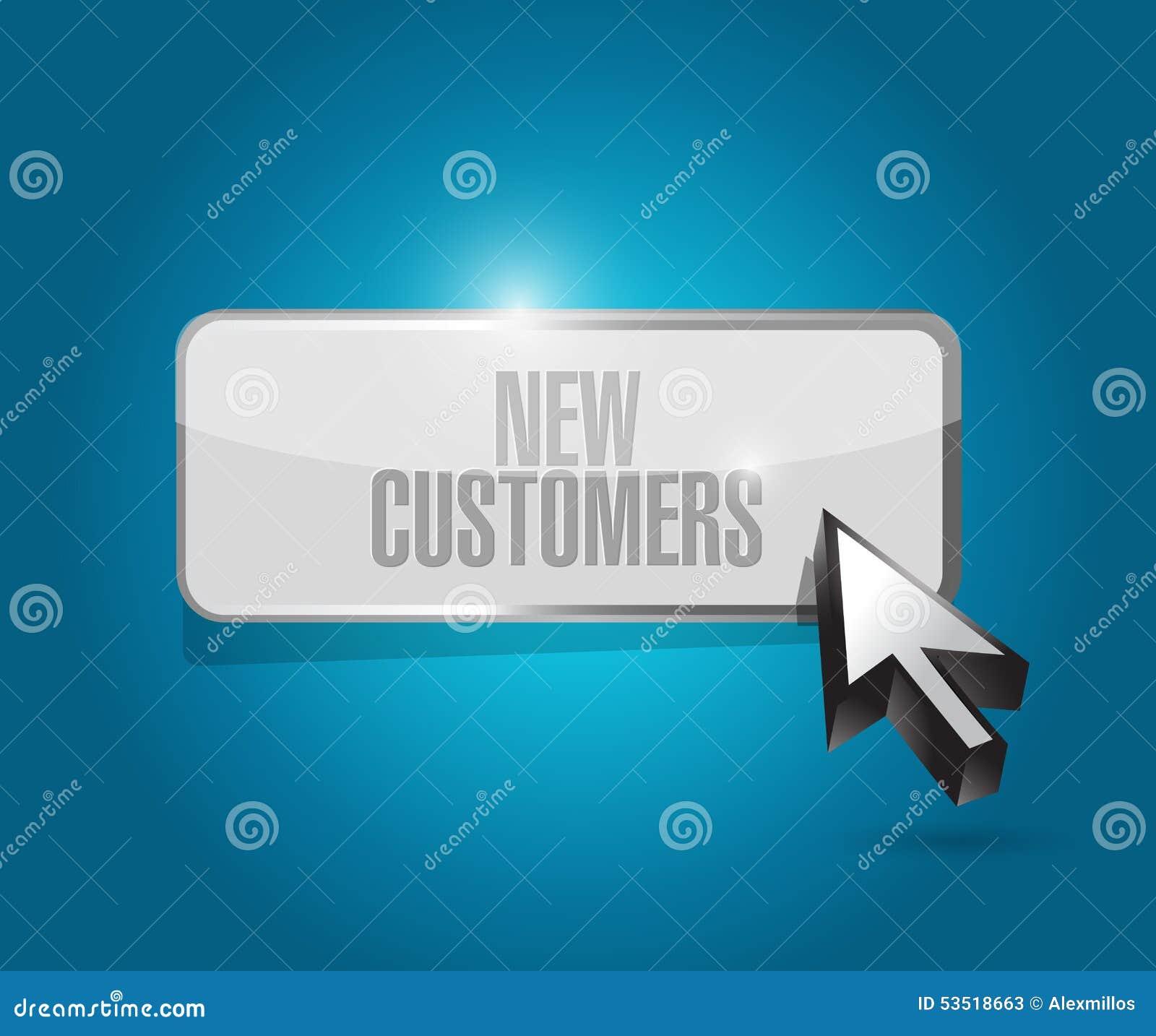 De nieuwe klanten knopen tekenconcept dicht