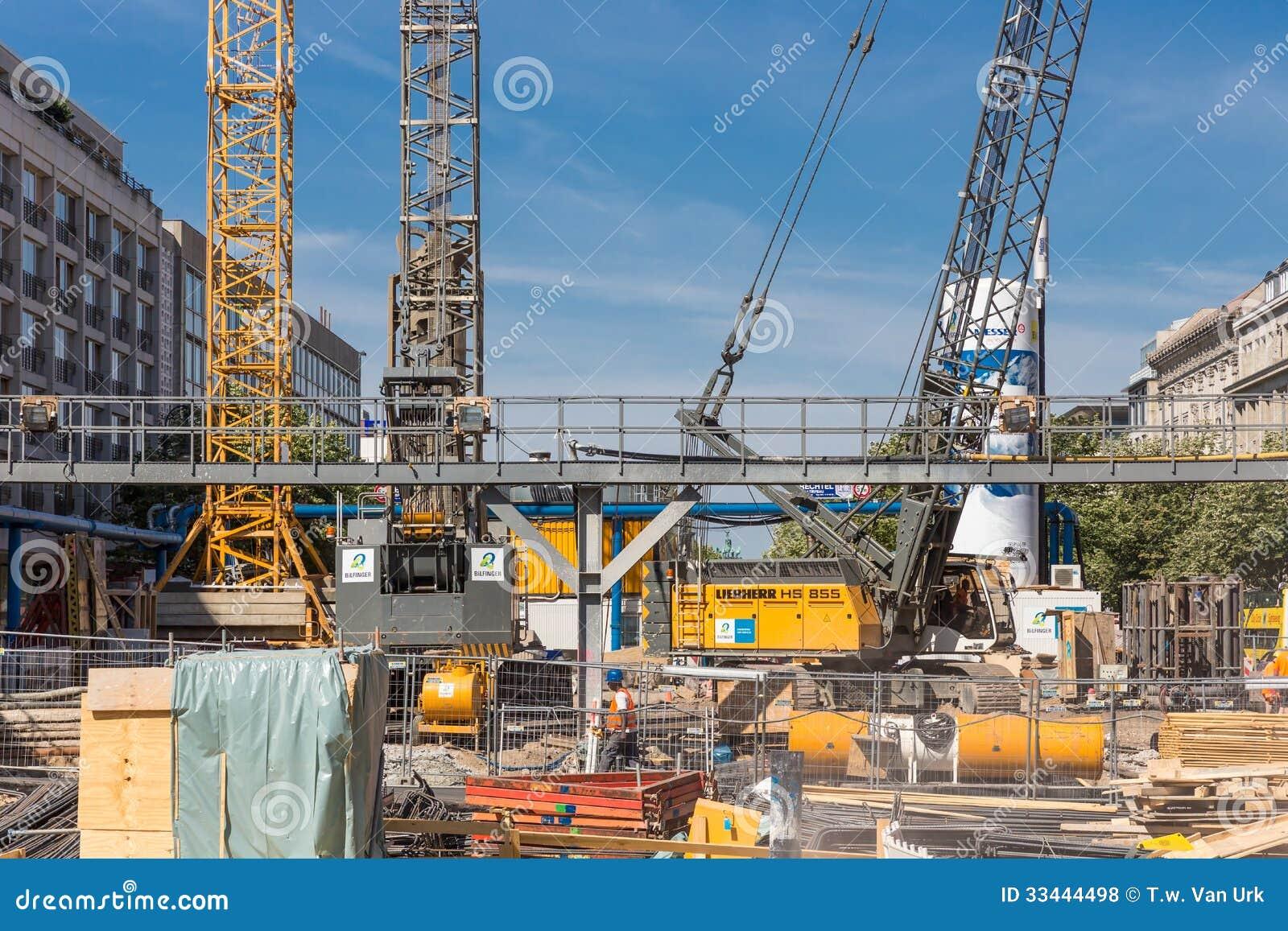De nieuwe metro van de bouwwerftotstandbrenging in Berlijn