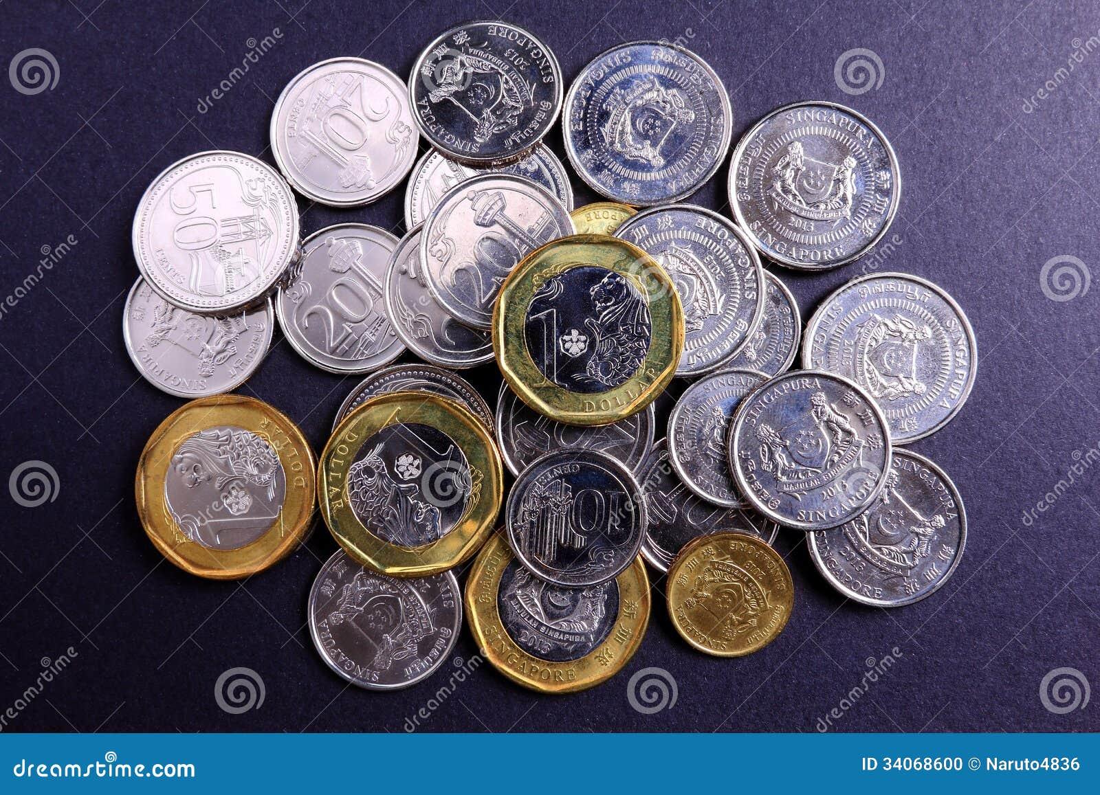 De nieuwe muntstukken van Singapore