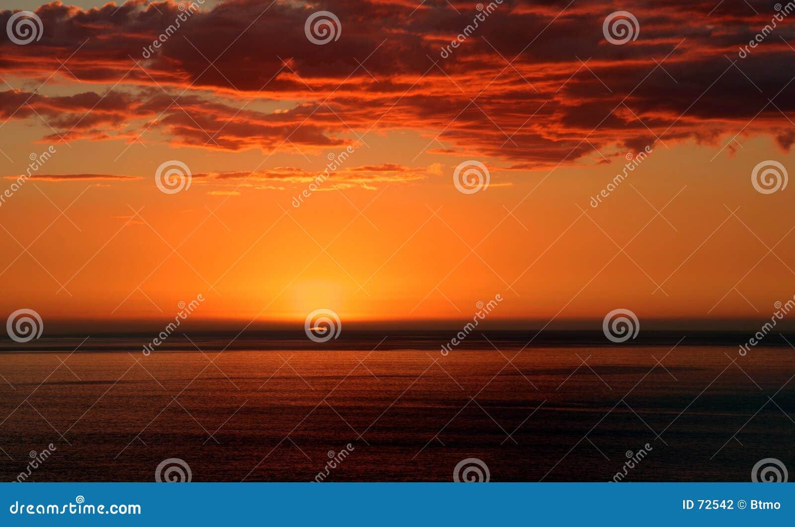 De nieuwe Zonsondergang van Plymouth