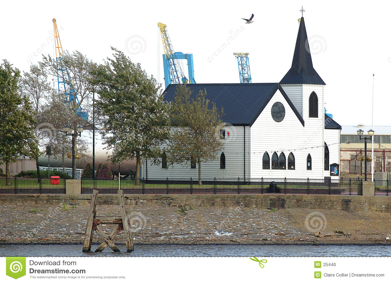 De Noorse Baai van Cardiff van de Kerk