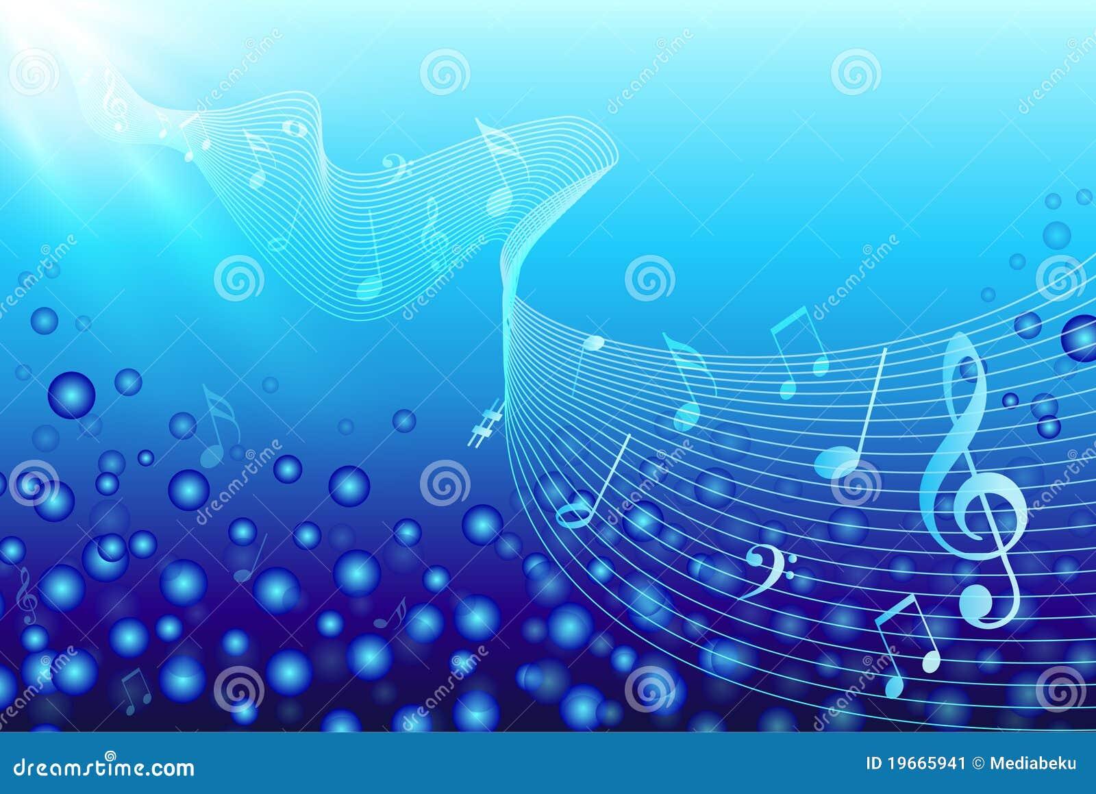 De Notas Van De Muziek In Water Stock Afbeelding Afbeelding