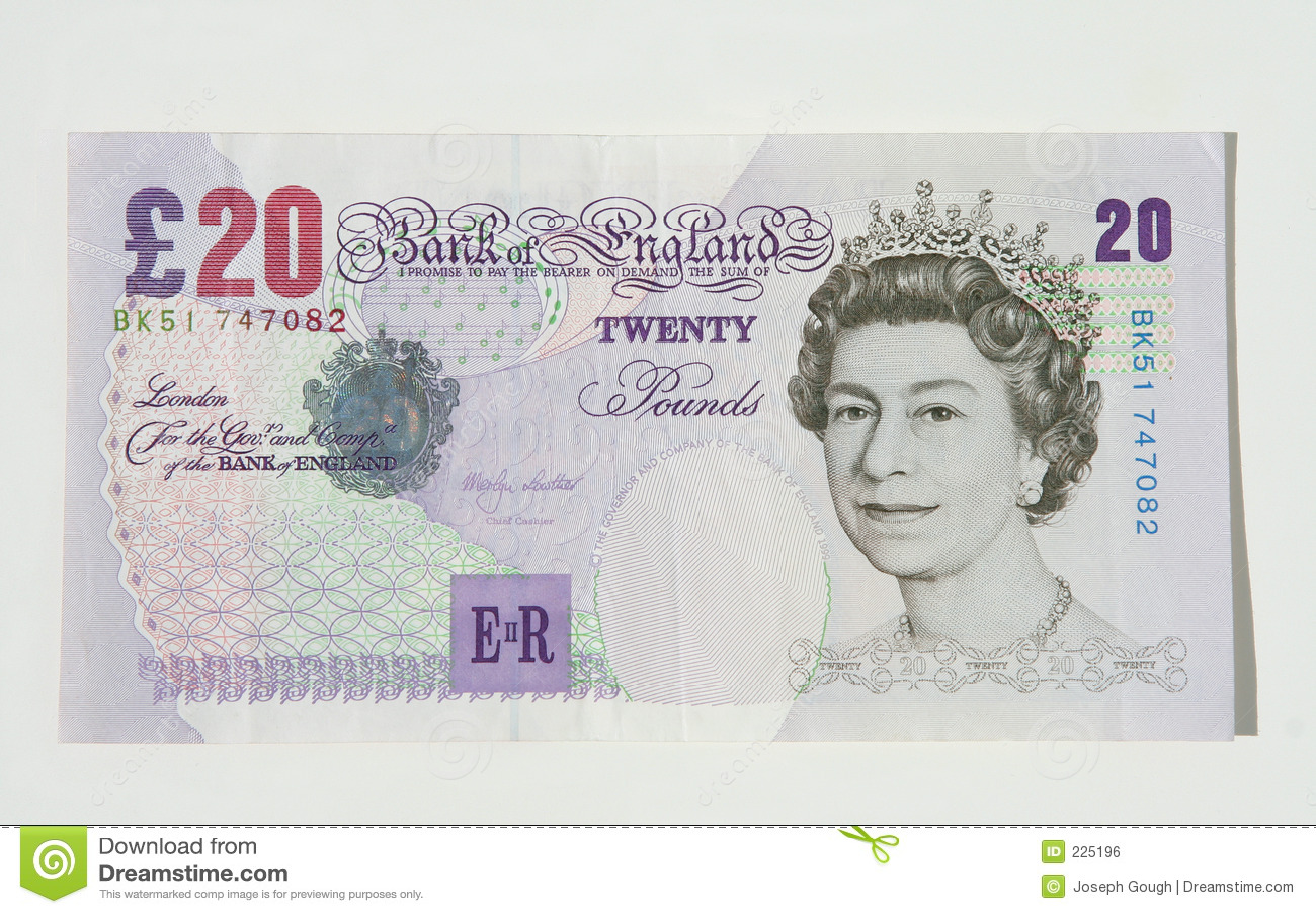 De Nota van twintig Pond, Britse Munt