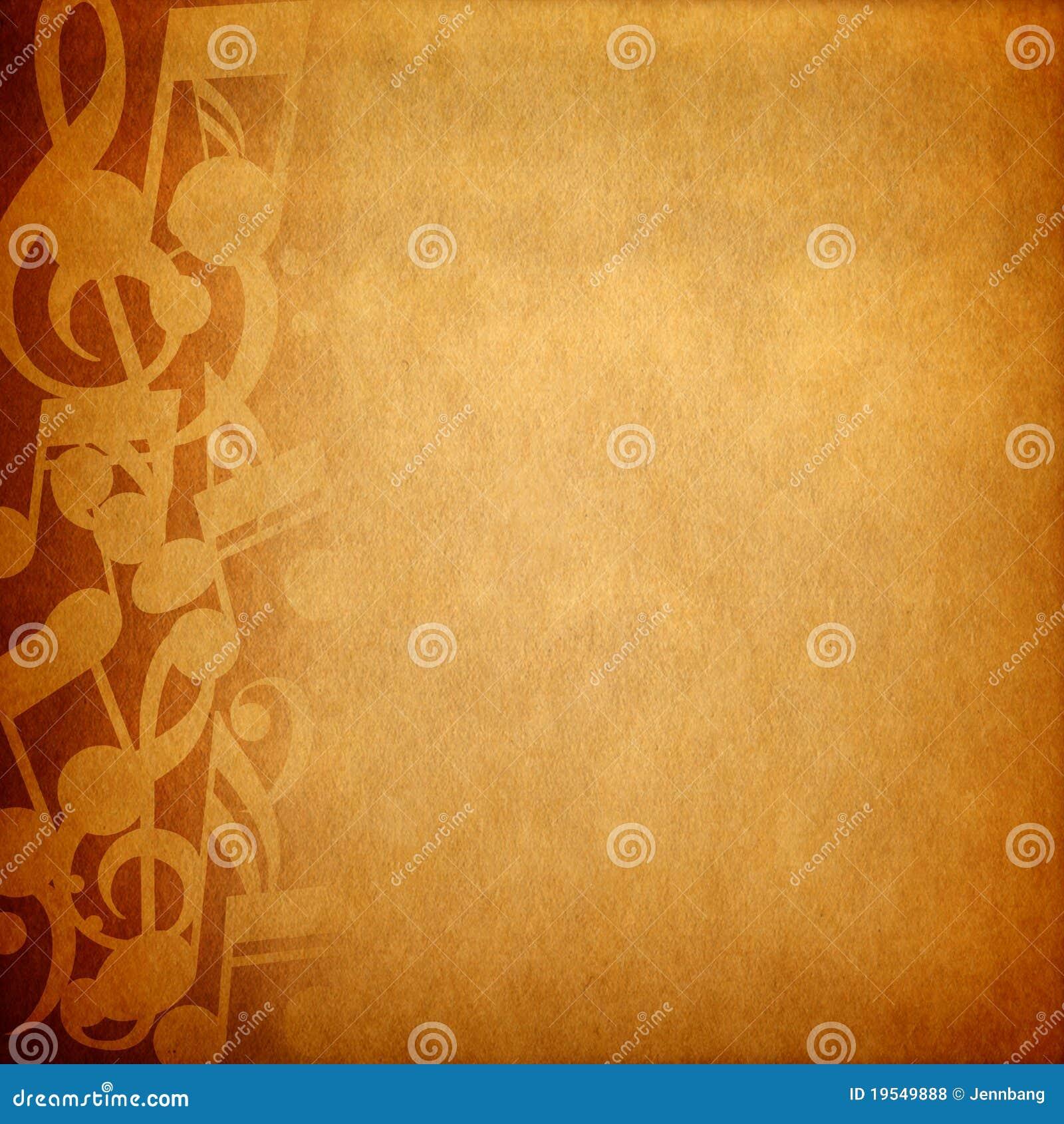 De notaachtergrond van de muziek