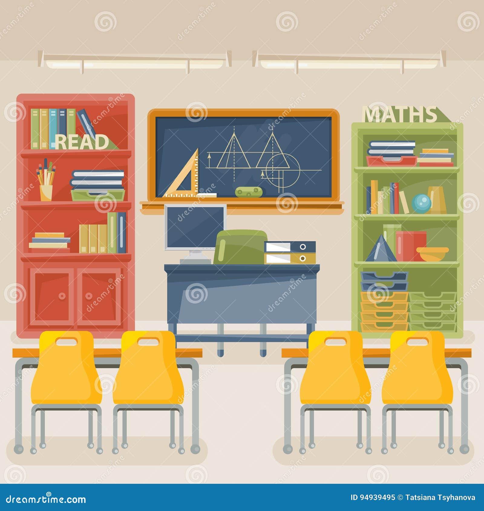 D'école L'illustration Classe De À Salle Nouveau Vecteur Avec IgyfvbY67
