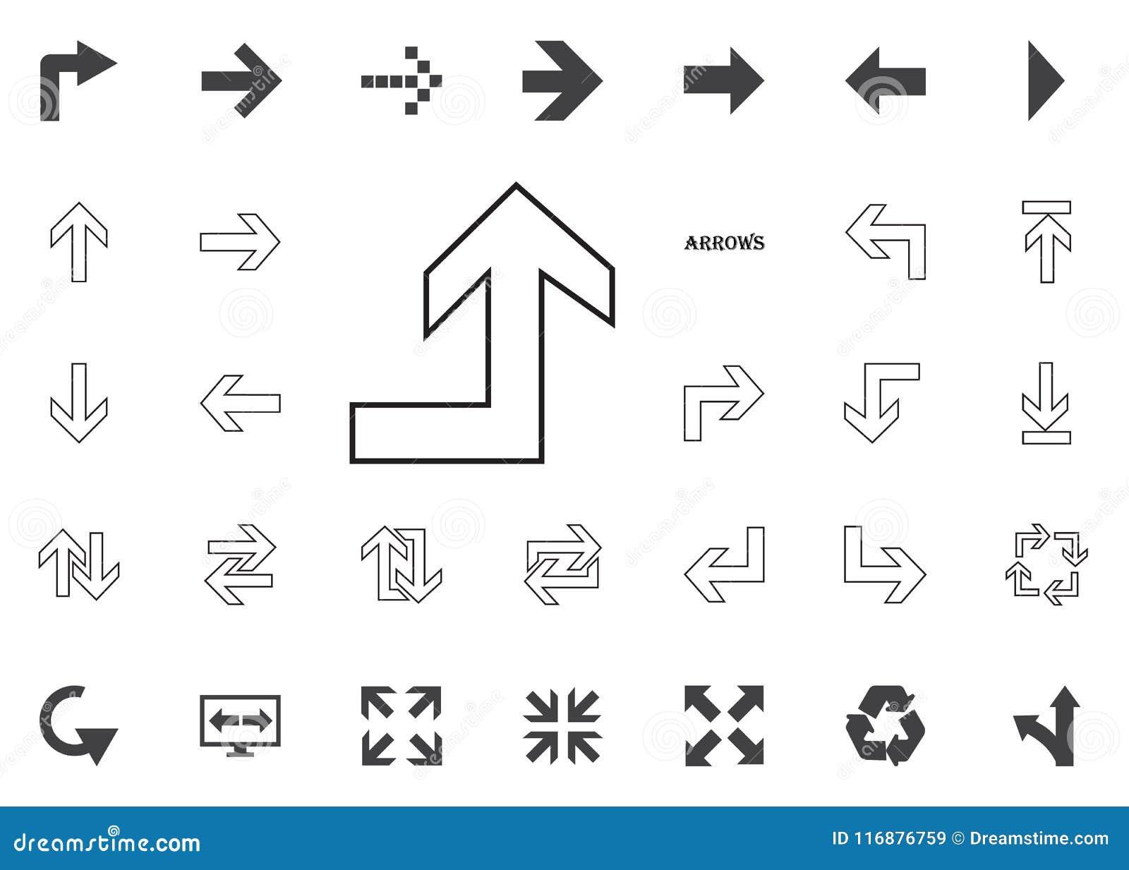 De nuevo al icono ascendente de la flecha Iconos del ejemplo de la flecha fijados