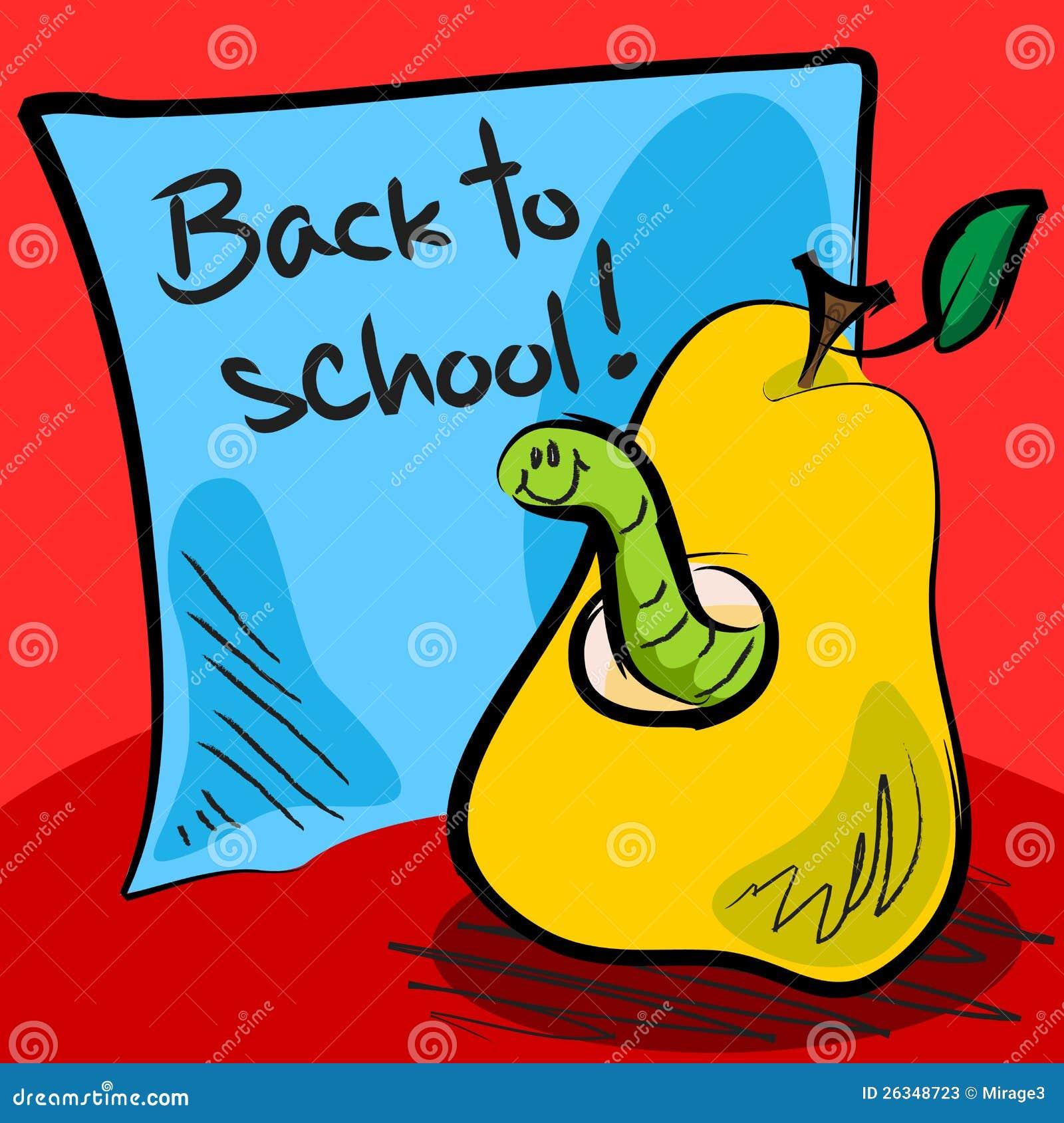 gusano de la escuela