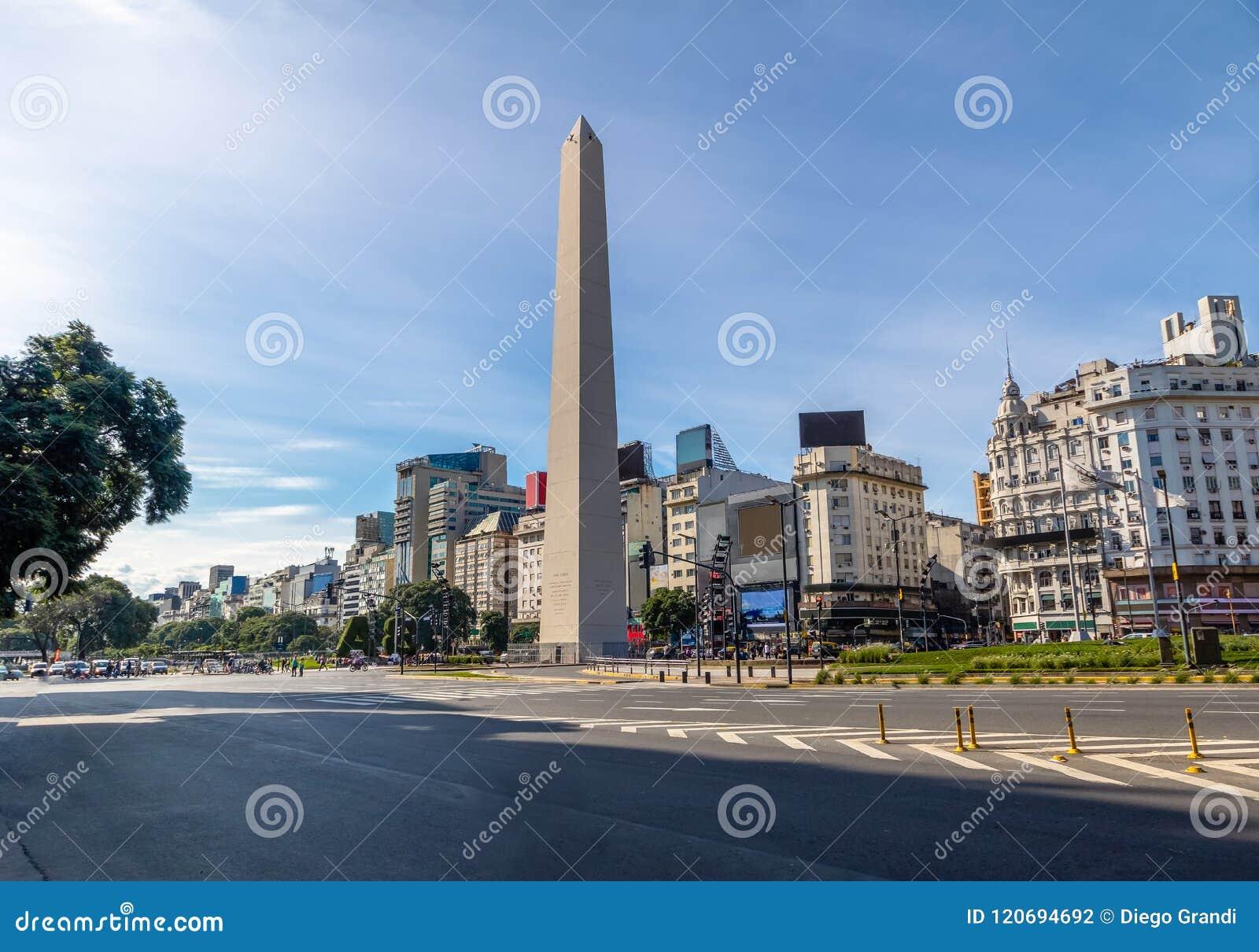 De Obelisk van Buenos aires in Plaza DE La Republica - Buenos aires, Argentinië