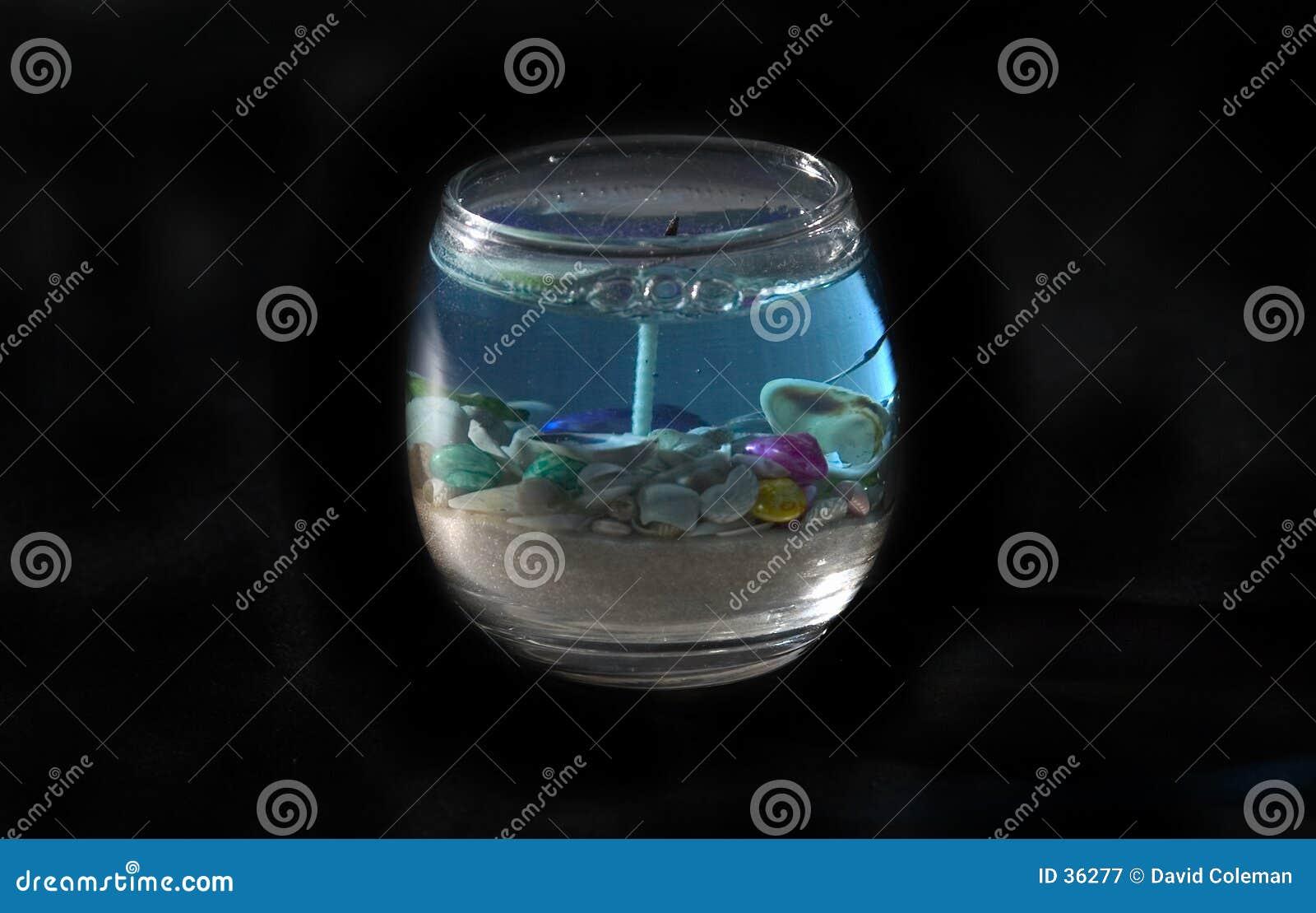 De oceaan geïsoleerden Kaars van het Thema