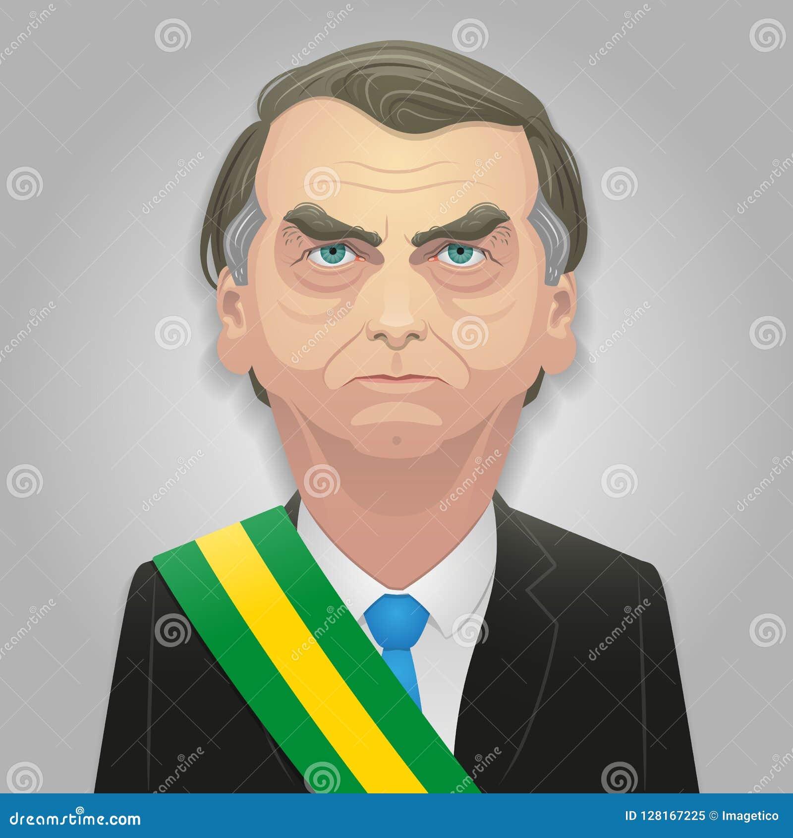 7 de octubre de 2018 - caricatura de Jair Bolsonaro, posiblemente el presidente siguiente del Brasil