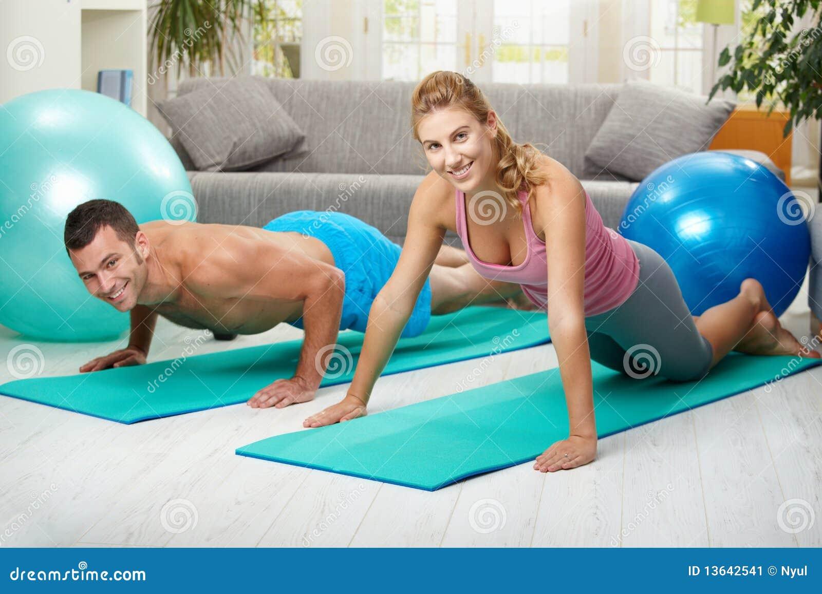 De oefening van de opdrukoefening