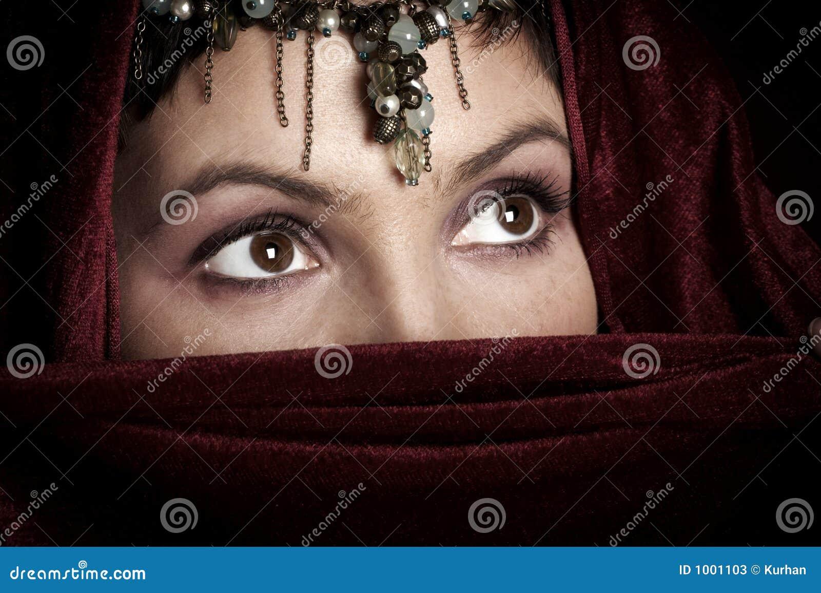 De ogen van de vrouw