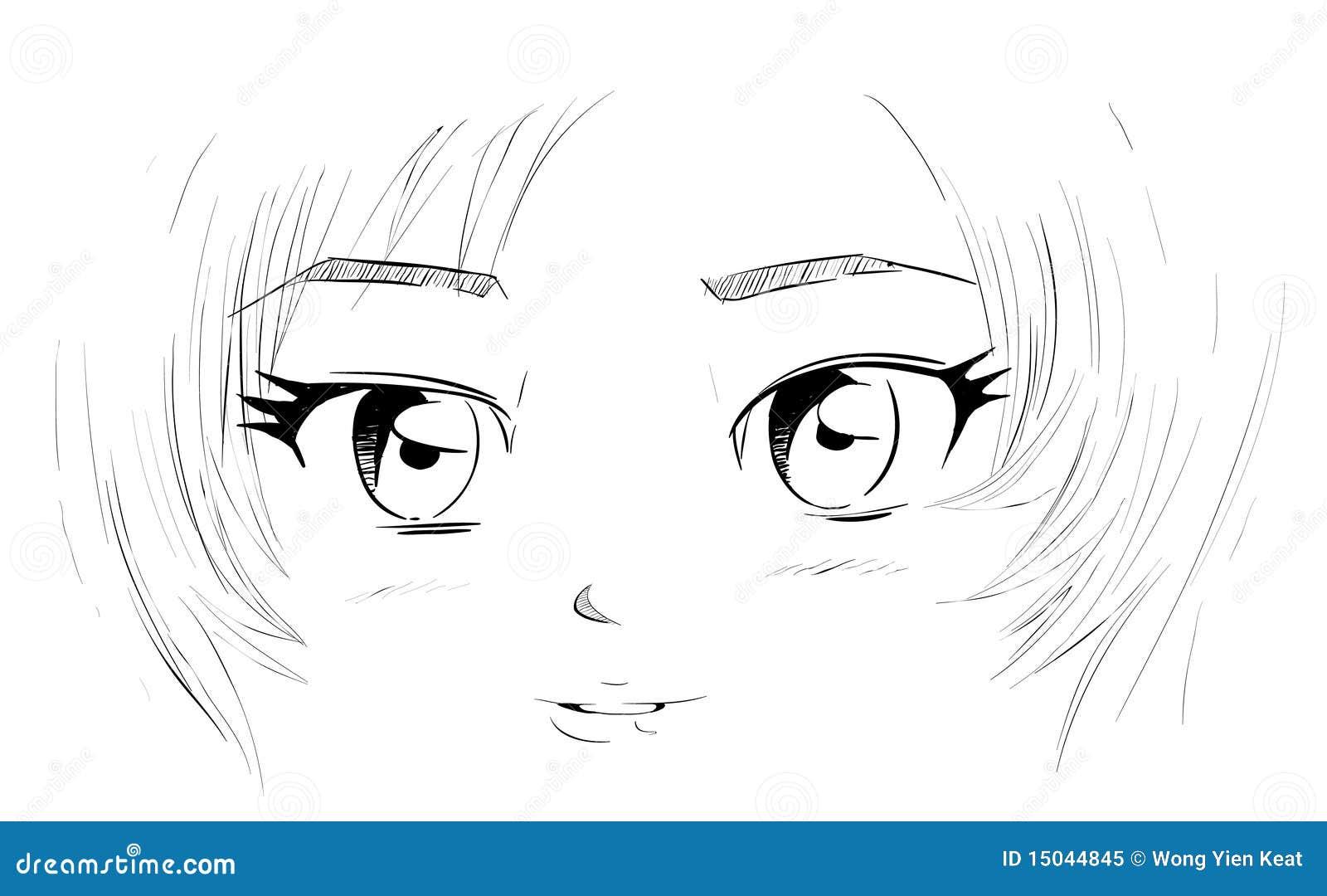 de ogen van manga vector illustratie  illustratie