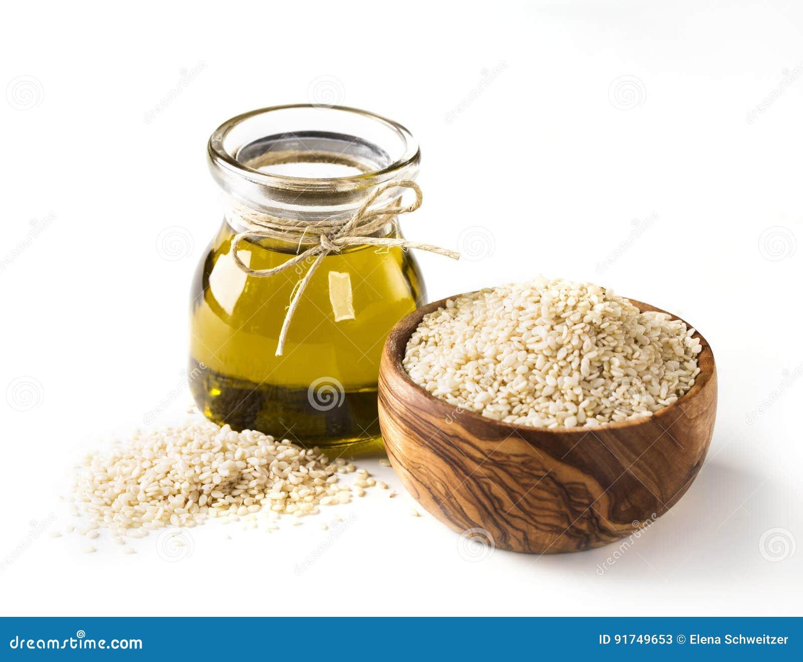 De olie en de zaden van de sesam