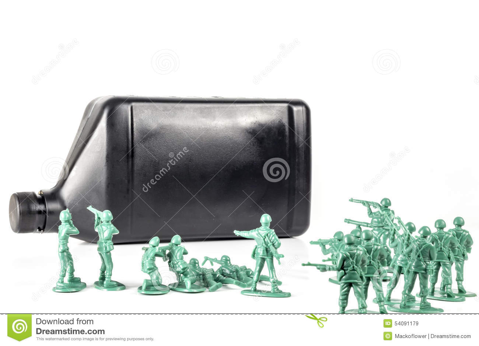 De Olie van legermensen