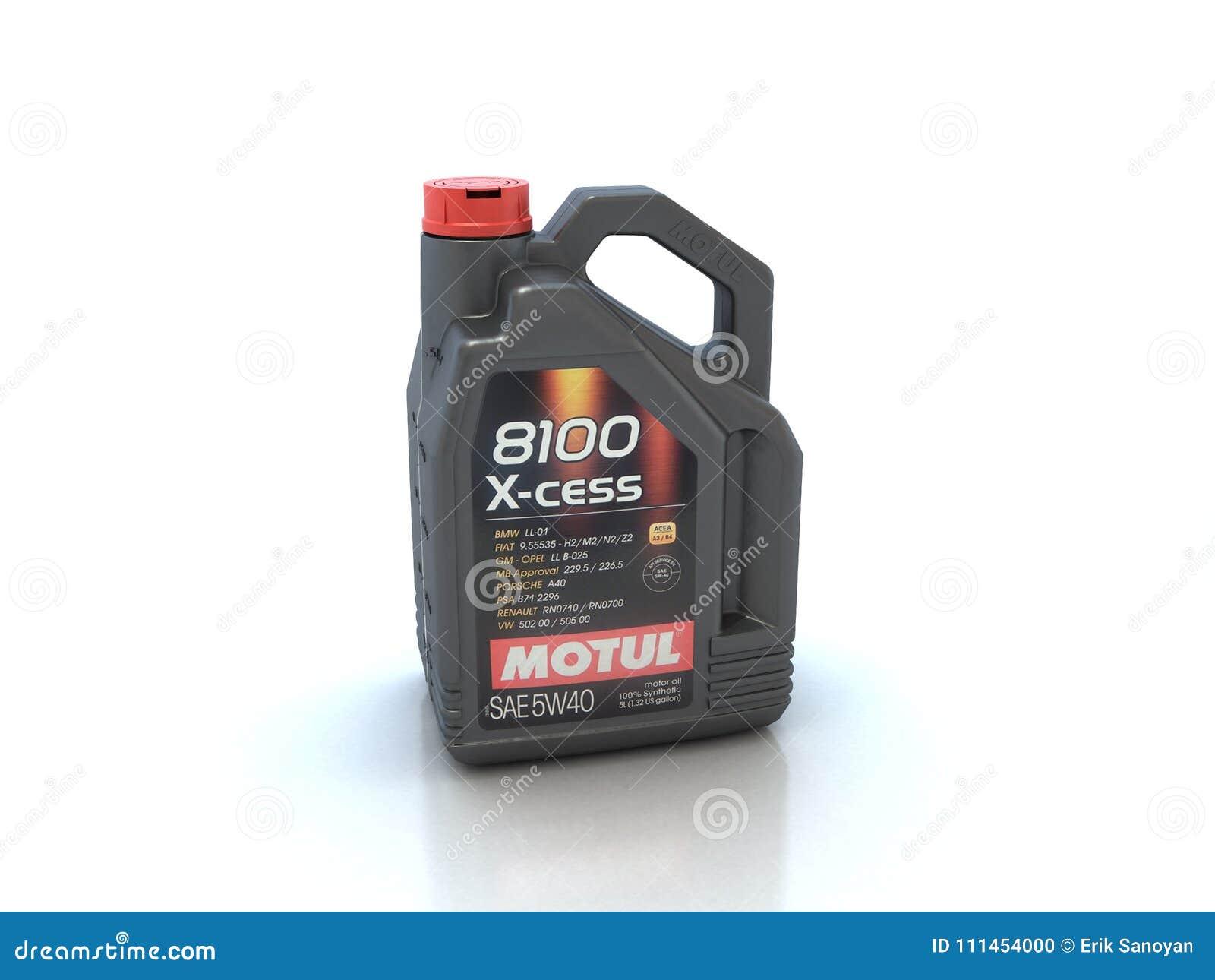 De olie van de Motulmotor