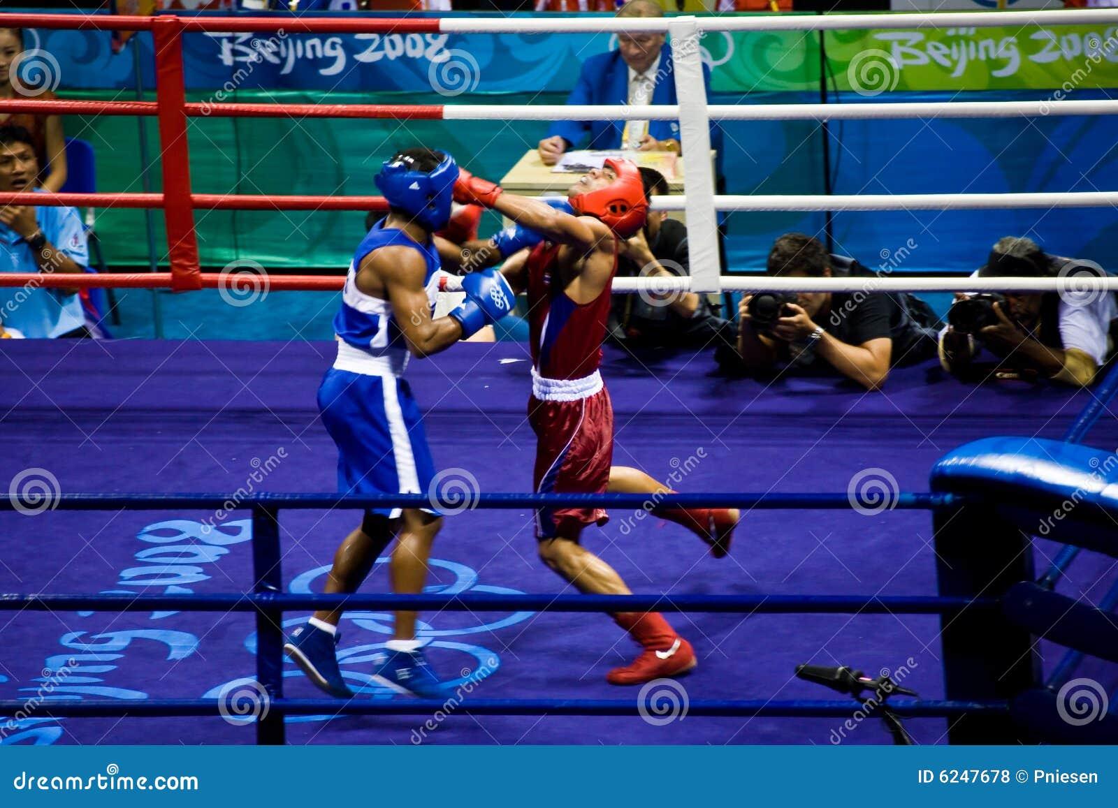 De olympische stempel van het bokserland