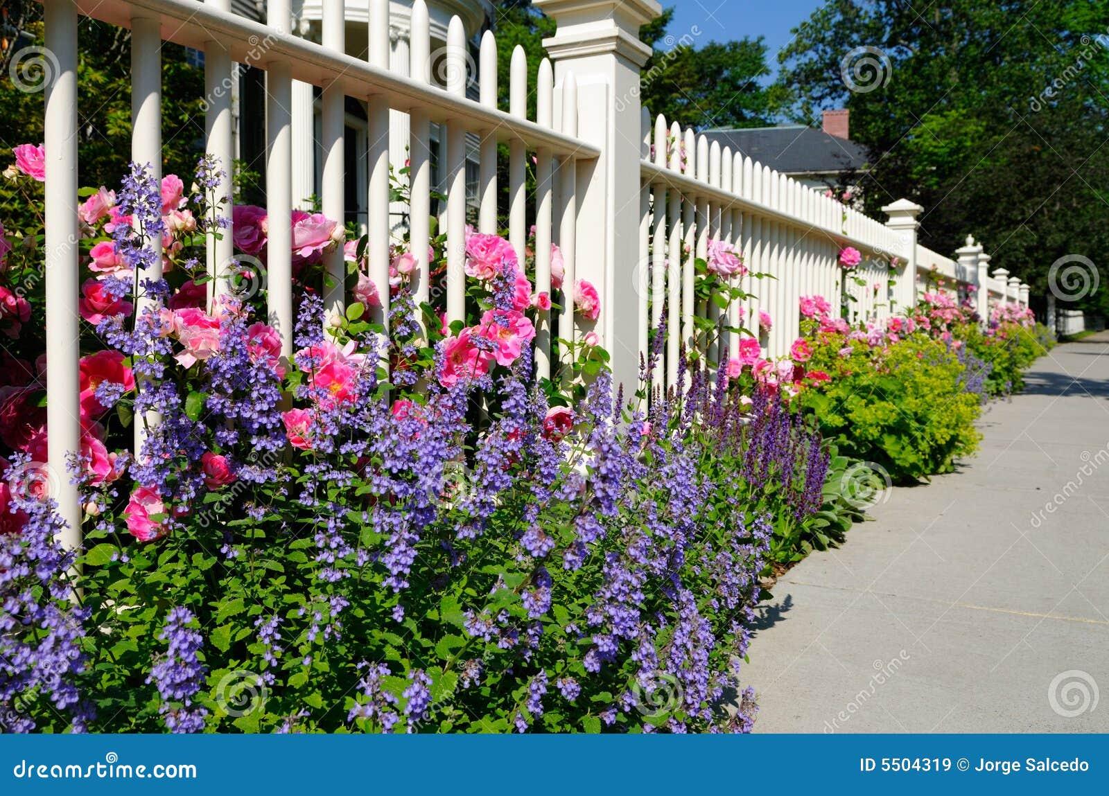 De omheining van de tuin