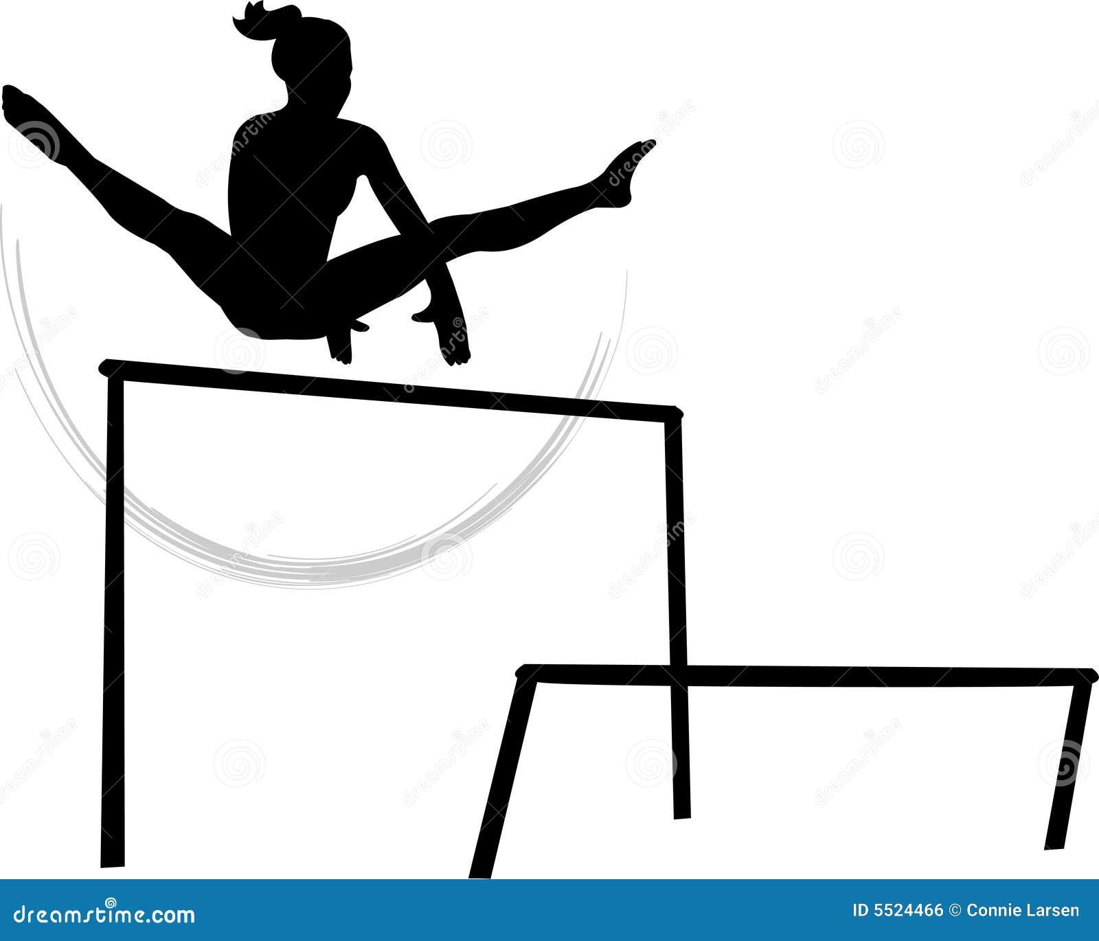 De Ongelijke Brug Van De Gymnastiek Van Vrouwen Stock
