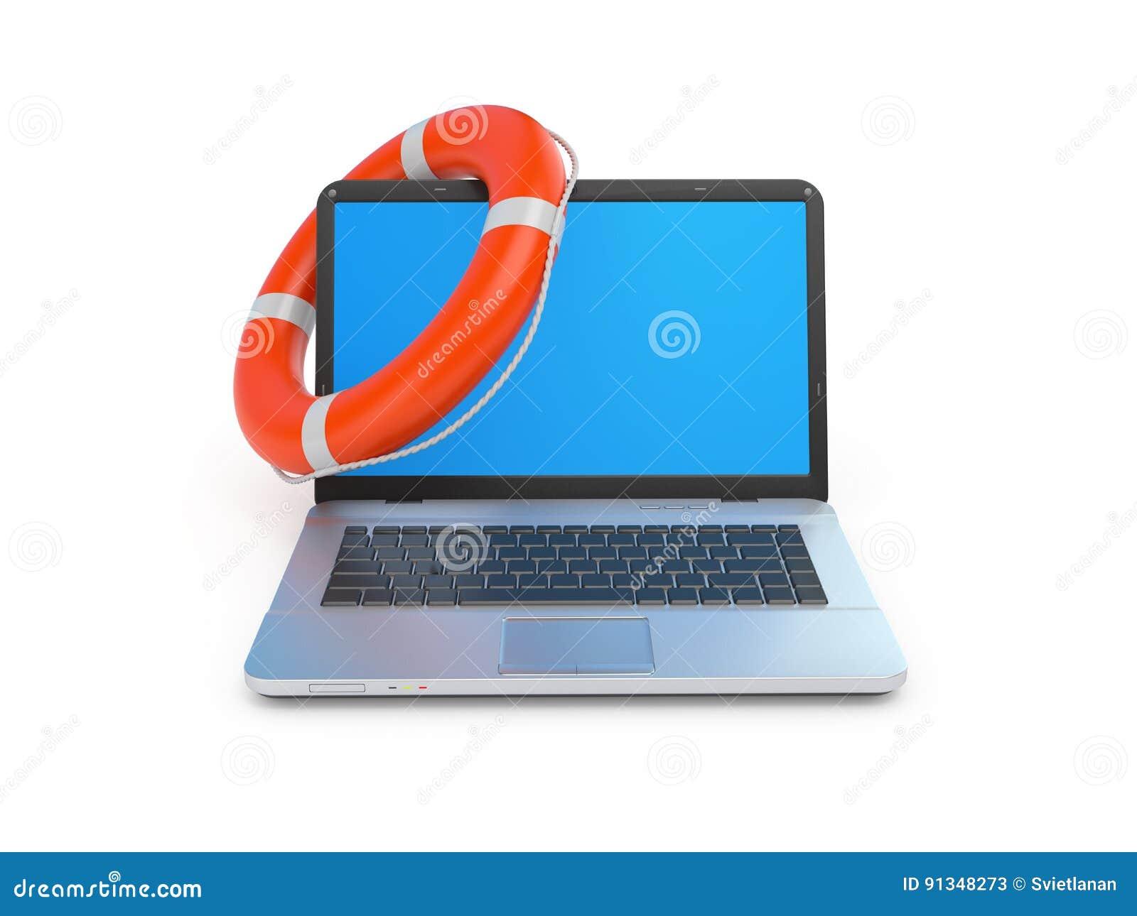 De online 3d illustratie van het hulpconcept