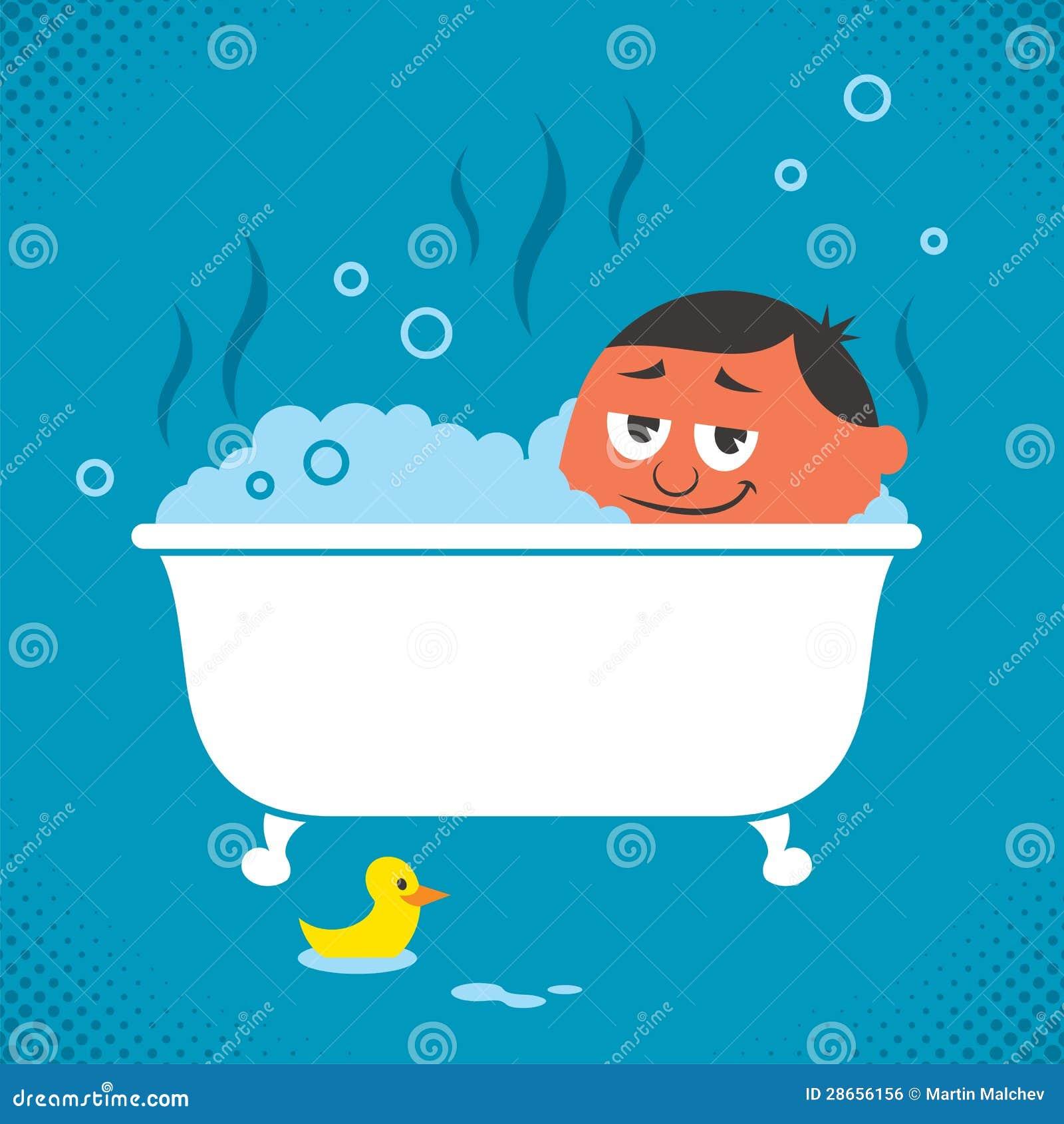 De ontspanning van de badkuip vector illustratie afbeelding 28656156 - Badkuip bel ...