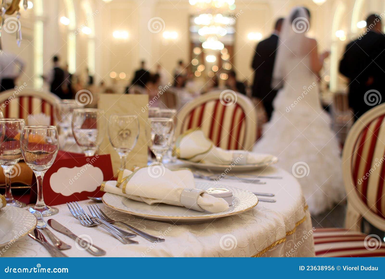 De ontvangst van het huwelijk
