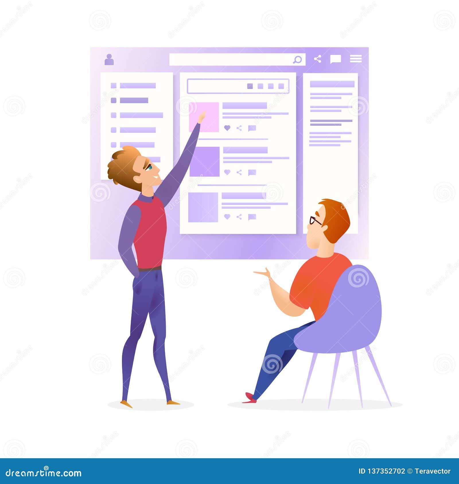 De Ontwerper Developer Meeting Banner van websiteui