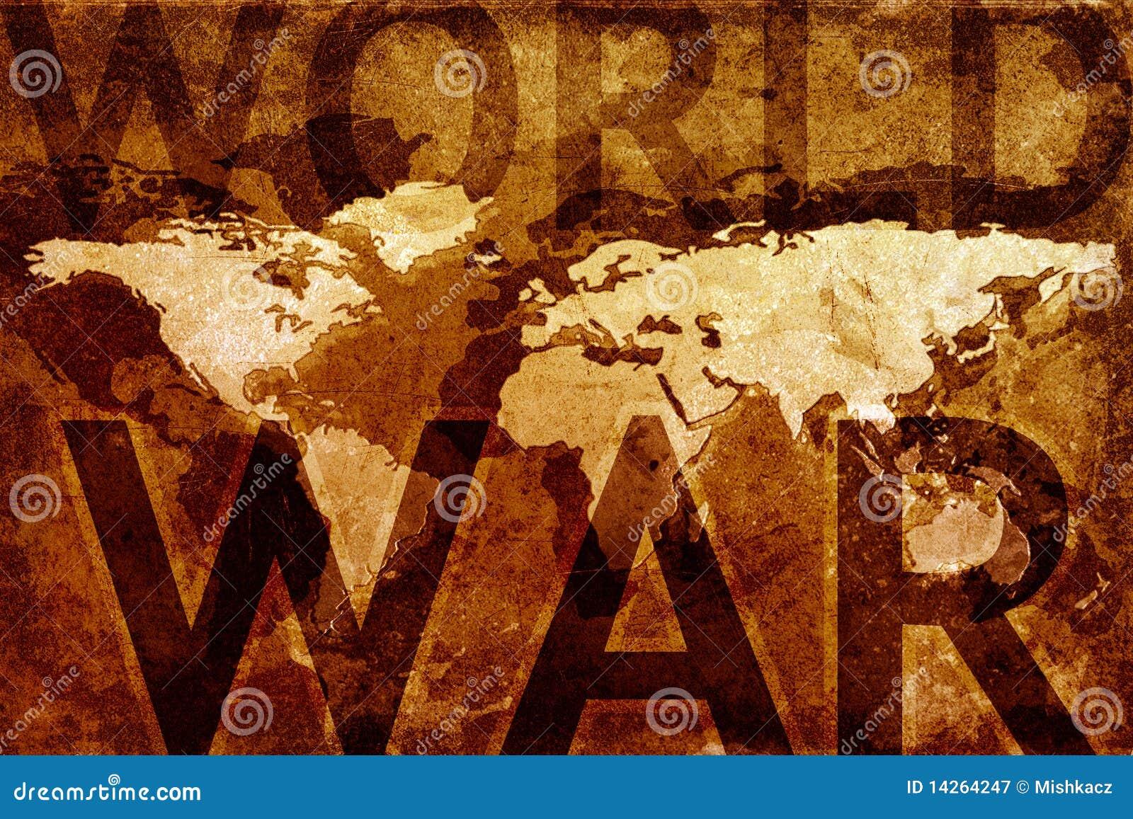 De oorlogskaart van de wereld
