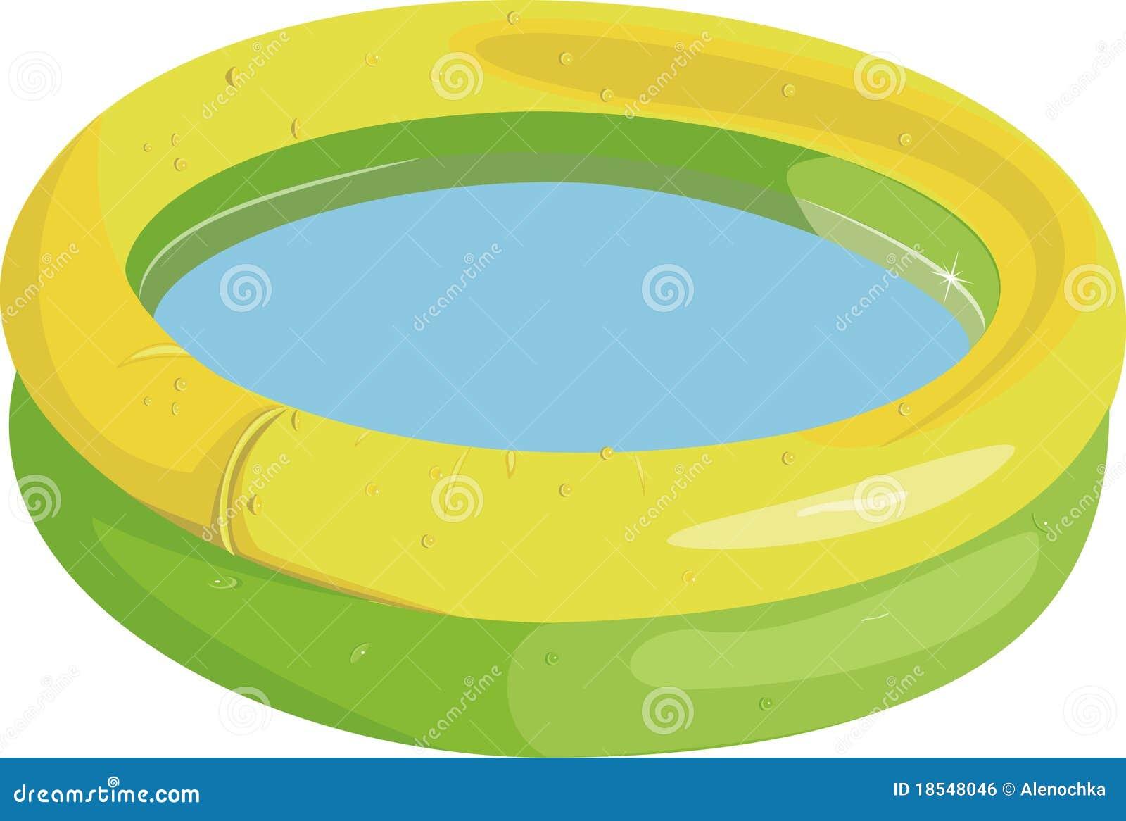 De opblaasbare pool van het jonge geitje