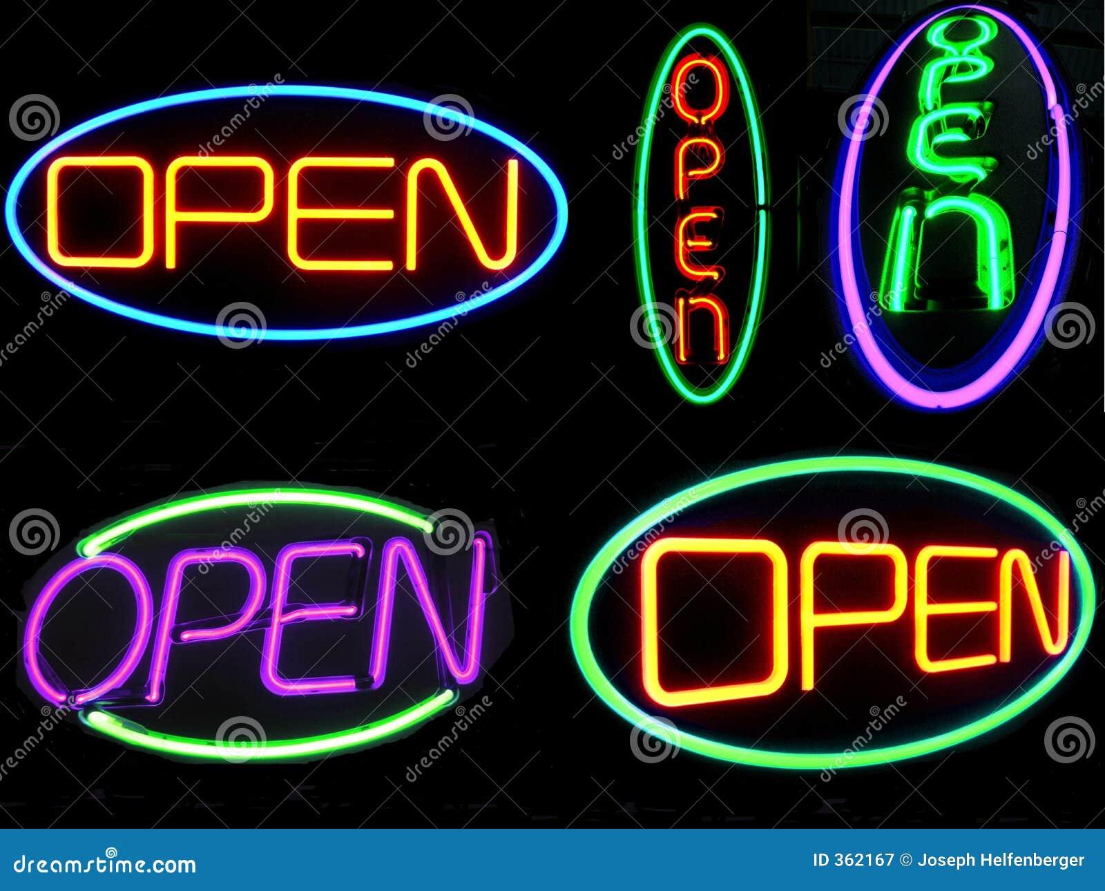 De Open Tekens van het neon