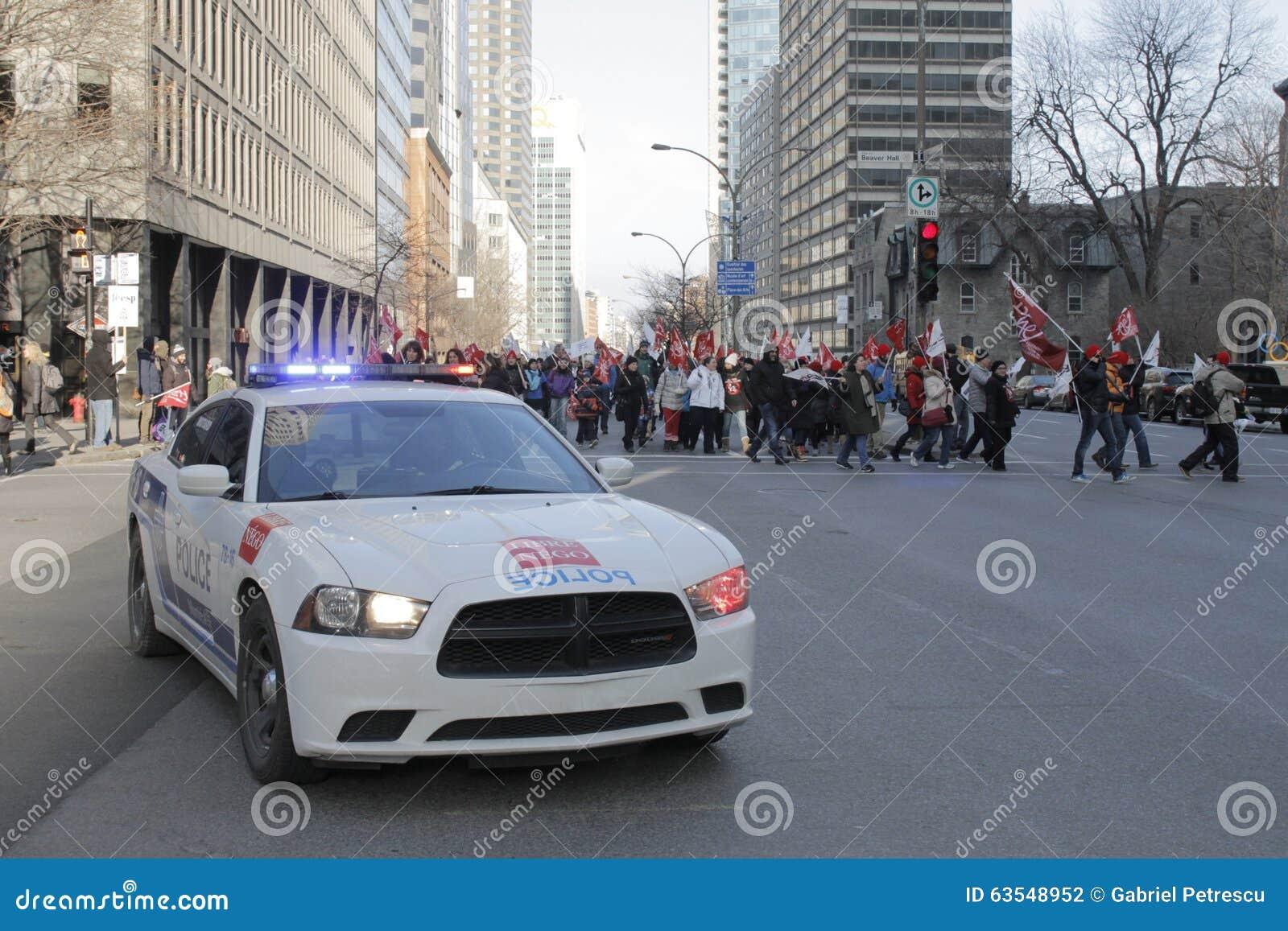 De openbare sectorstakingen van Quebec