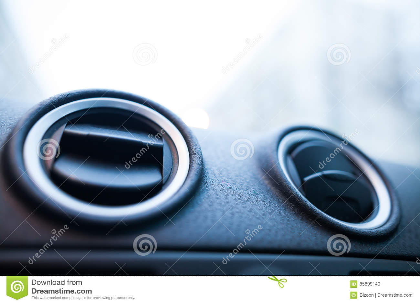 De openingendetail van de autolucht