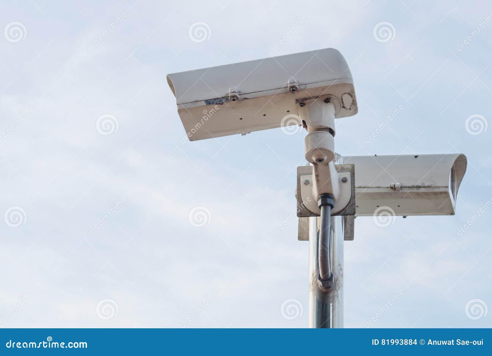 De openluchtcamera van Veiligheidskabeltelevisie