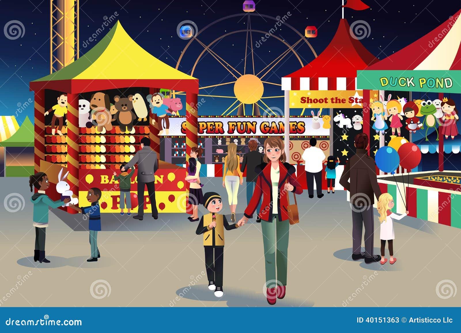 De openluchtmarkt van de de zomernacht