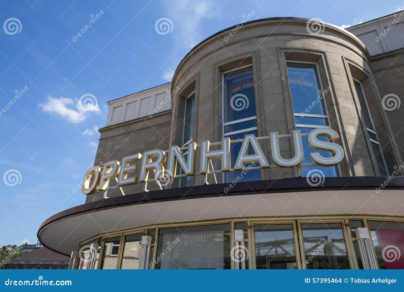De opera van Wuppertal in Duitsland
