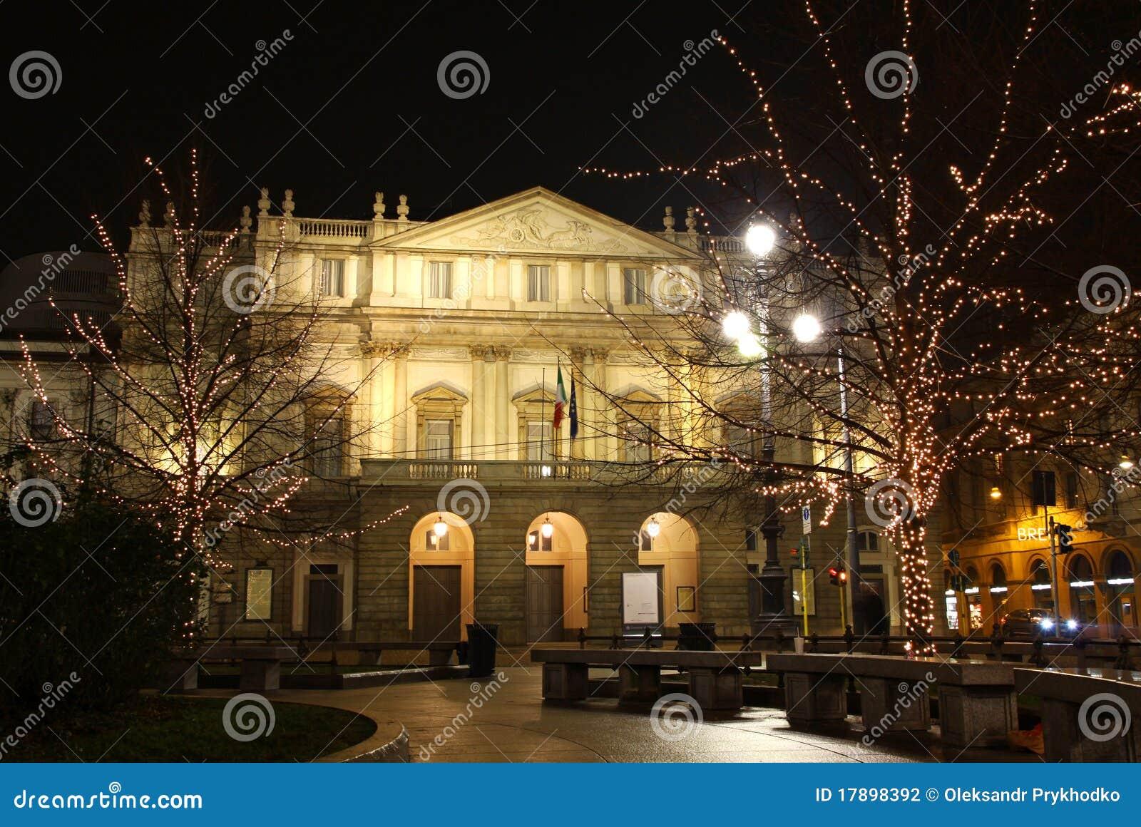 De operahuis van het La Scala, Milaan, Italië