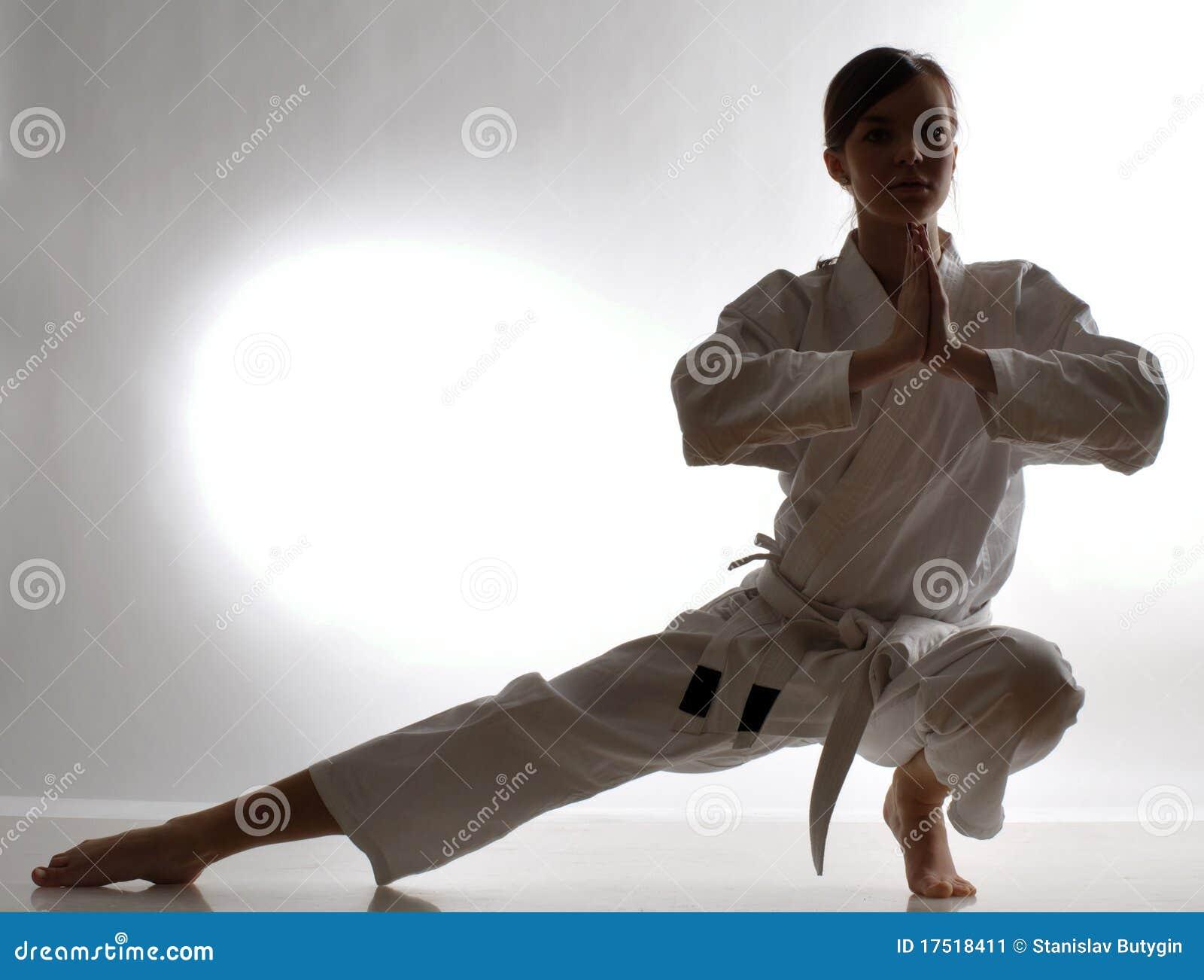 De opleiding van de karate