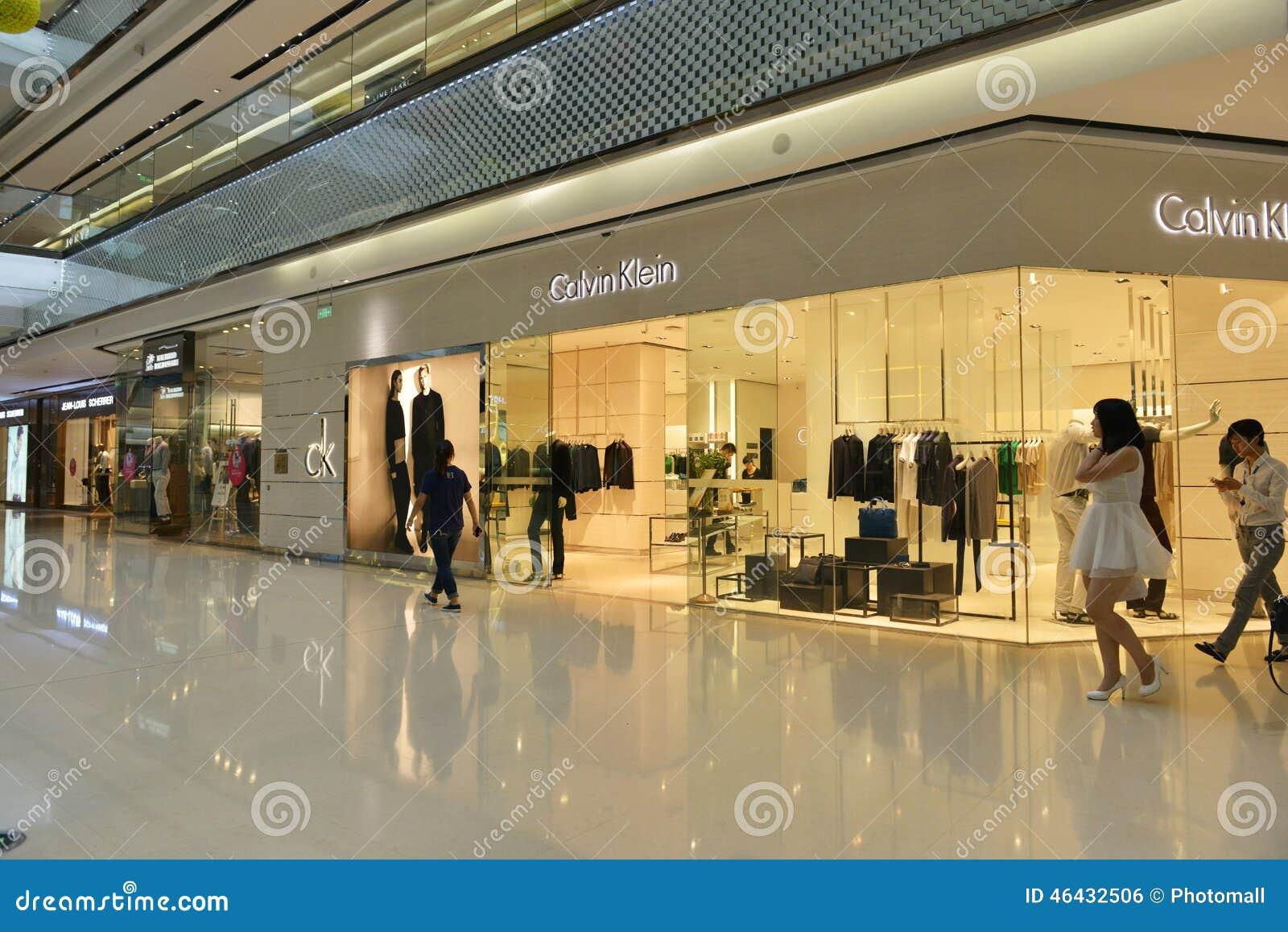 De opslagwinkel van de Ckï¼ ŒCalvin Klein Kleding in Tchang-cha Wanda Plaza, het winkelen